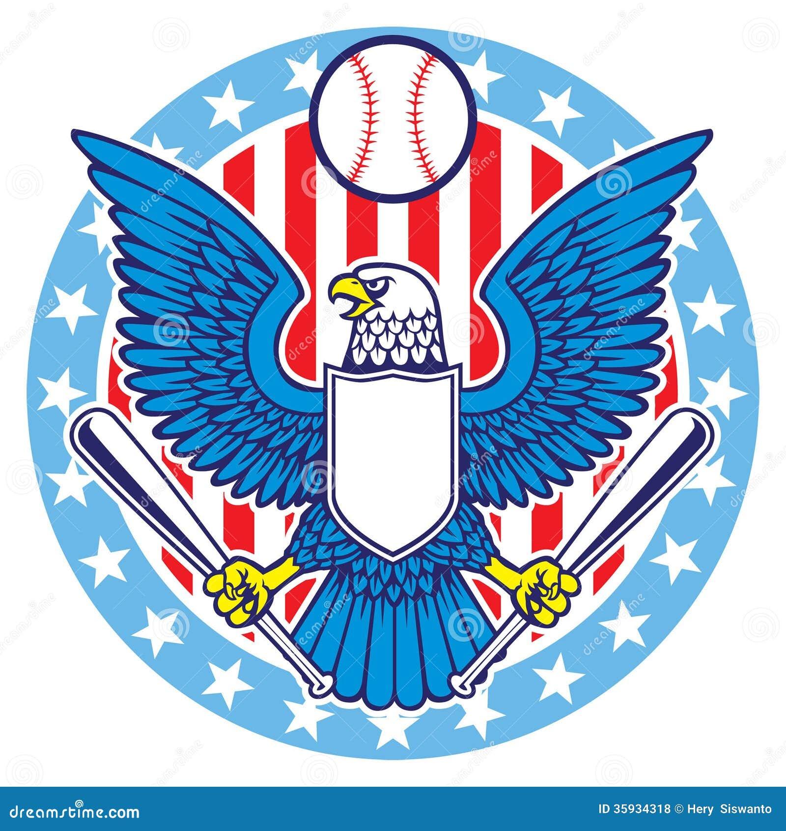 Eagle mascot of baseball