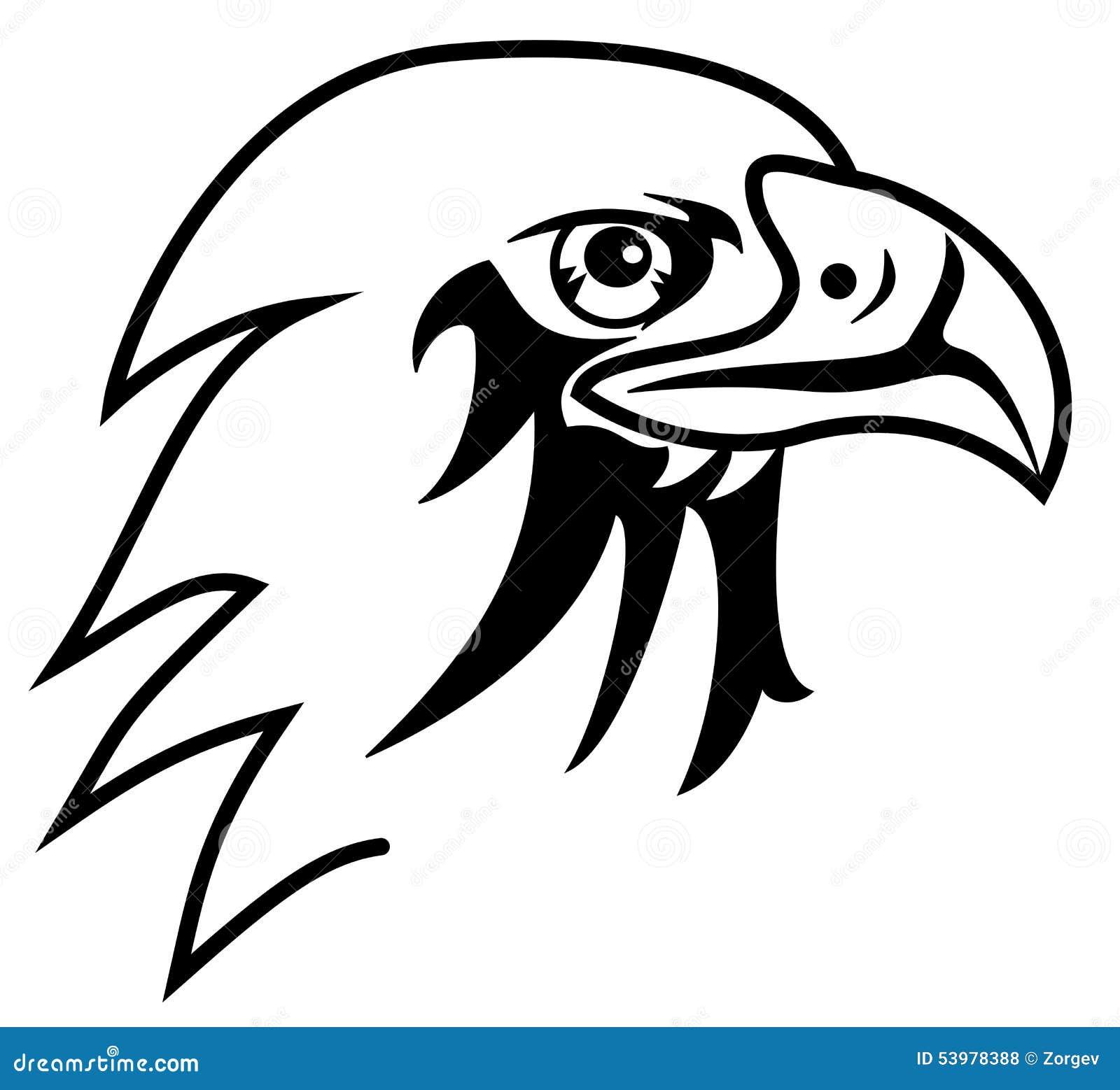 Eagle para colorear ilustración del vector. Ilustración de ...