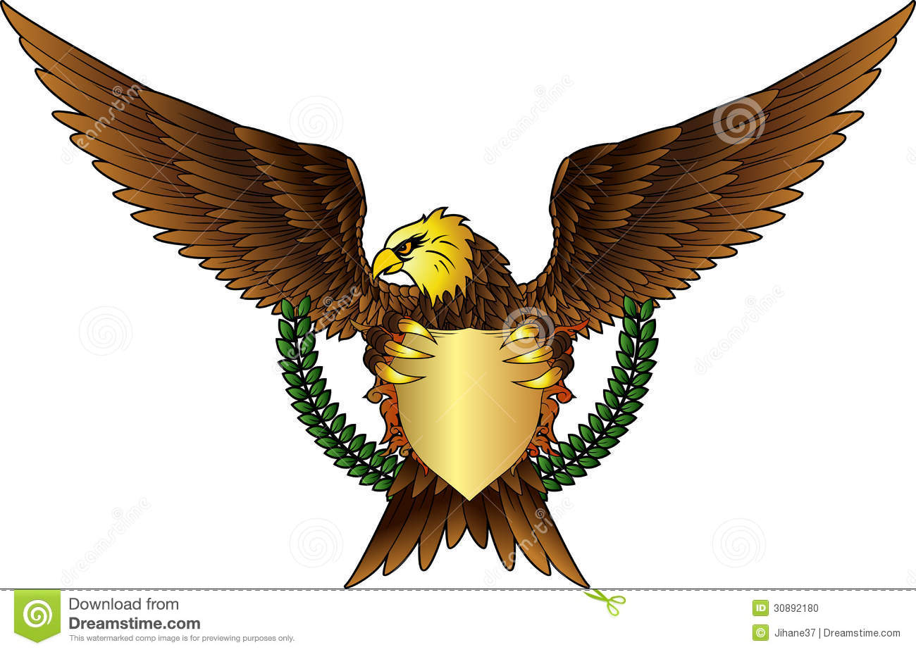 Eagle With Shield For You Design Stock Photo - Image: 30892180