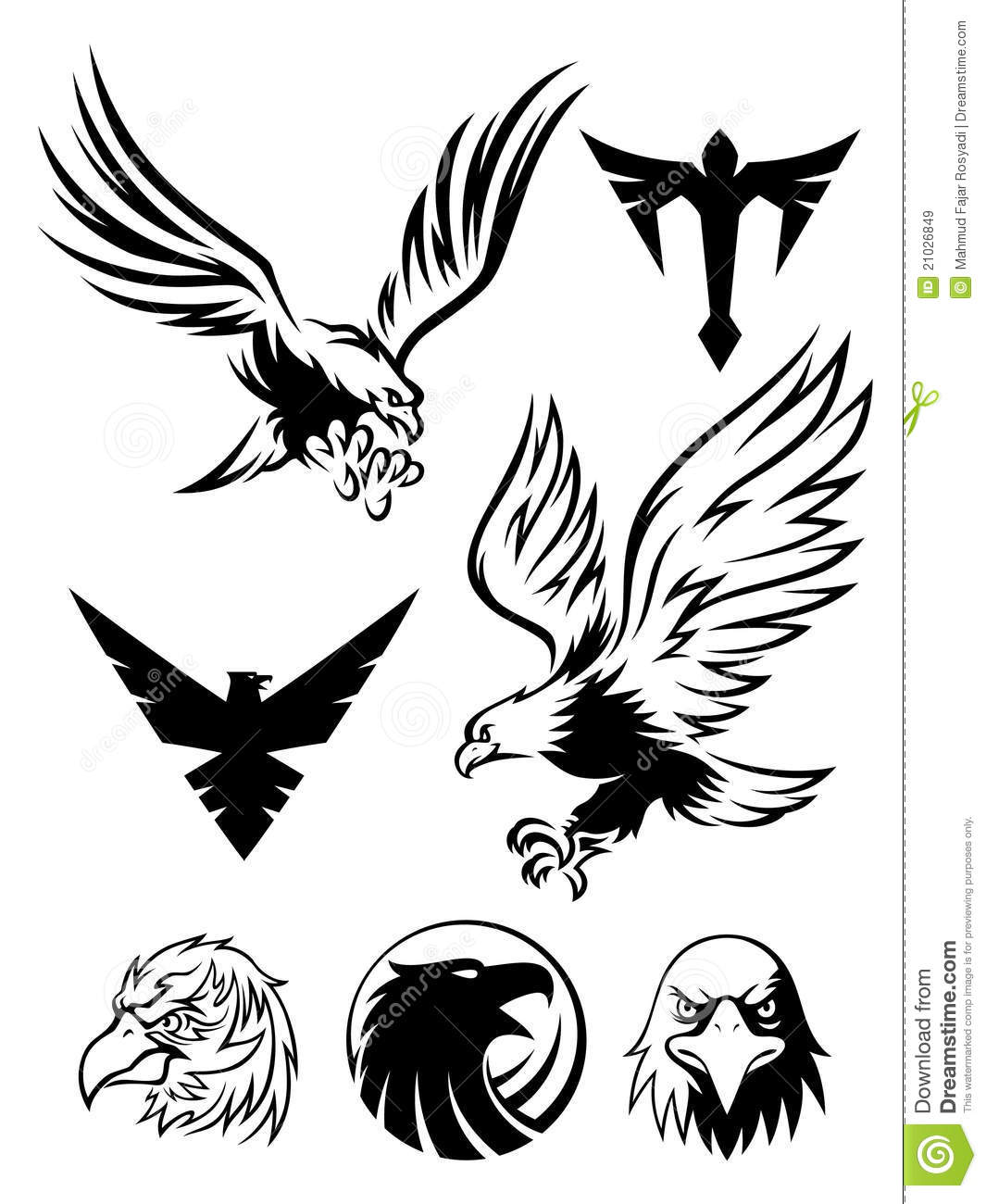 Eagle Symbol Stock Vector Illustration Of Strength Object 21026849
