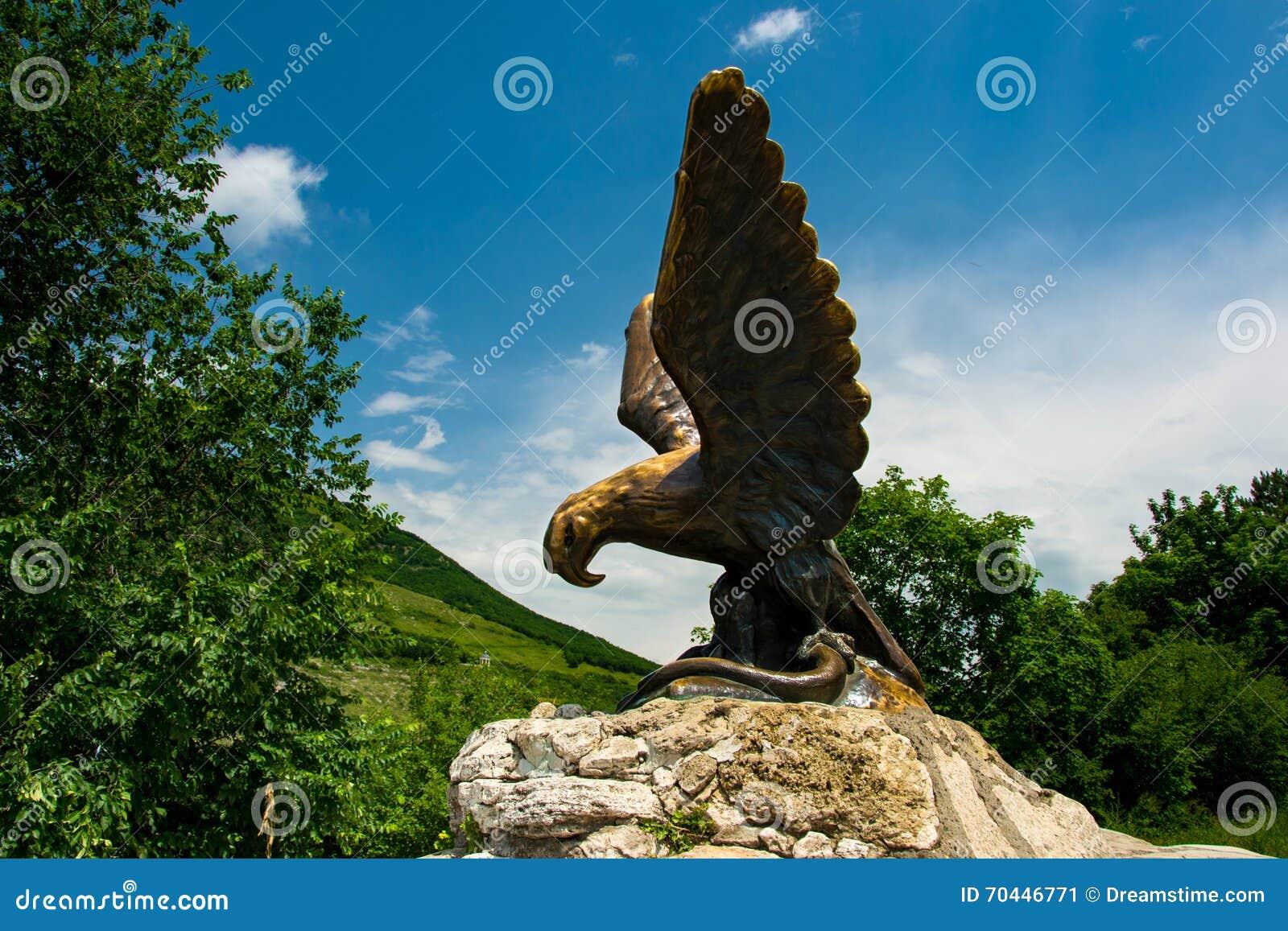 Eagle Symbol Of The City Of Pyatigorsk The North Caucasus Stock