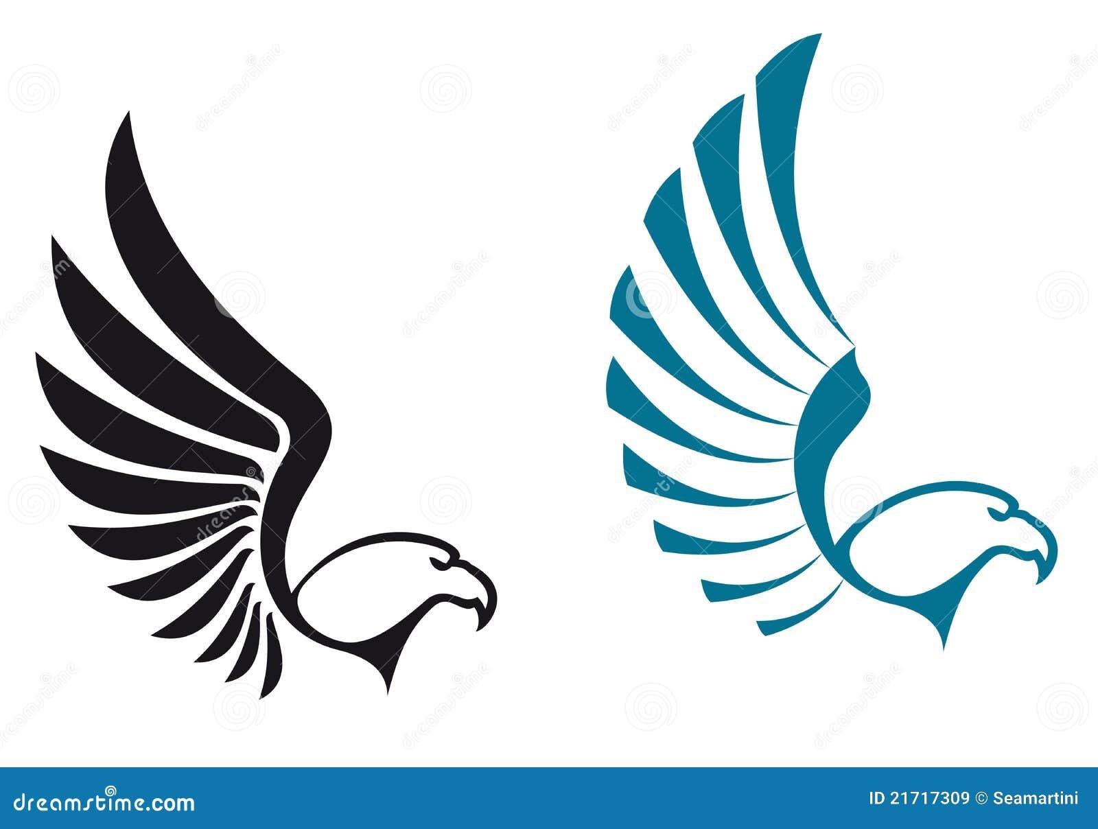 Eagle symbols isolated on white background for mascot or emblem design ...