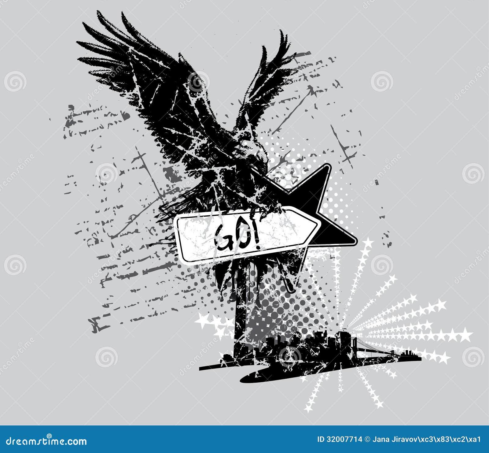 Shirt design style - Eagle T Shirt Design