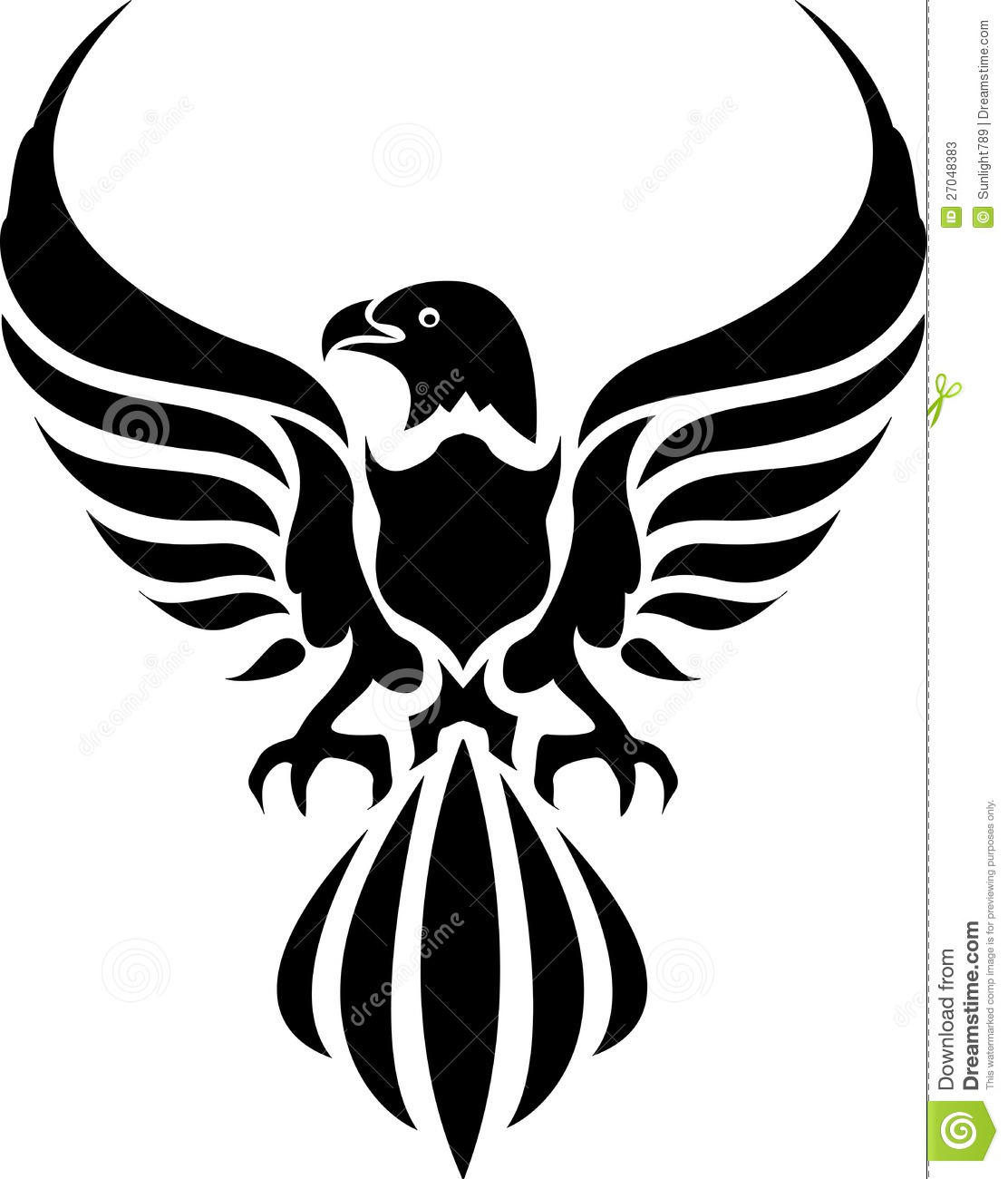 eagle tattoo stock illustration illustration of symbol 27048383. Black Bedroom Furniture Sets. Home Design Ideas