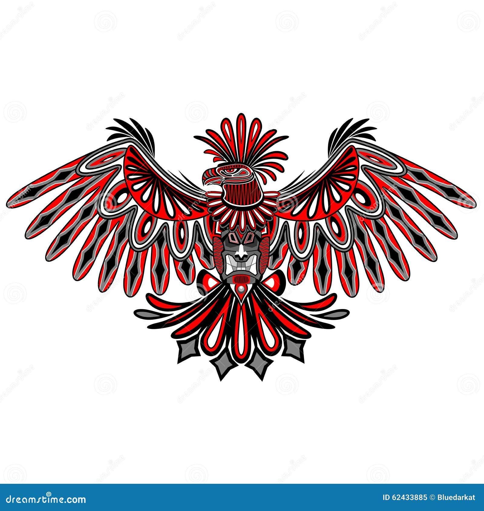 Eagle Tattoo Style Haida Art