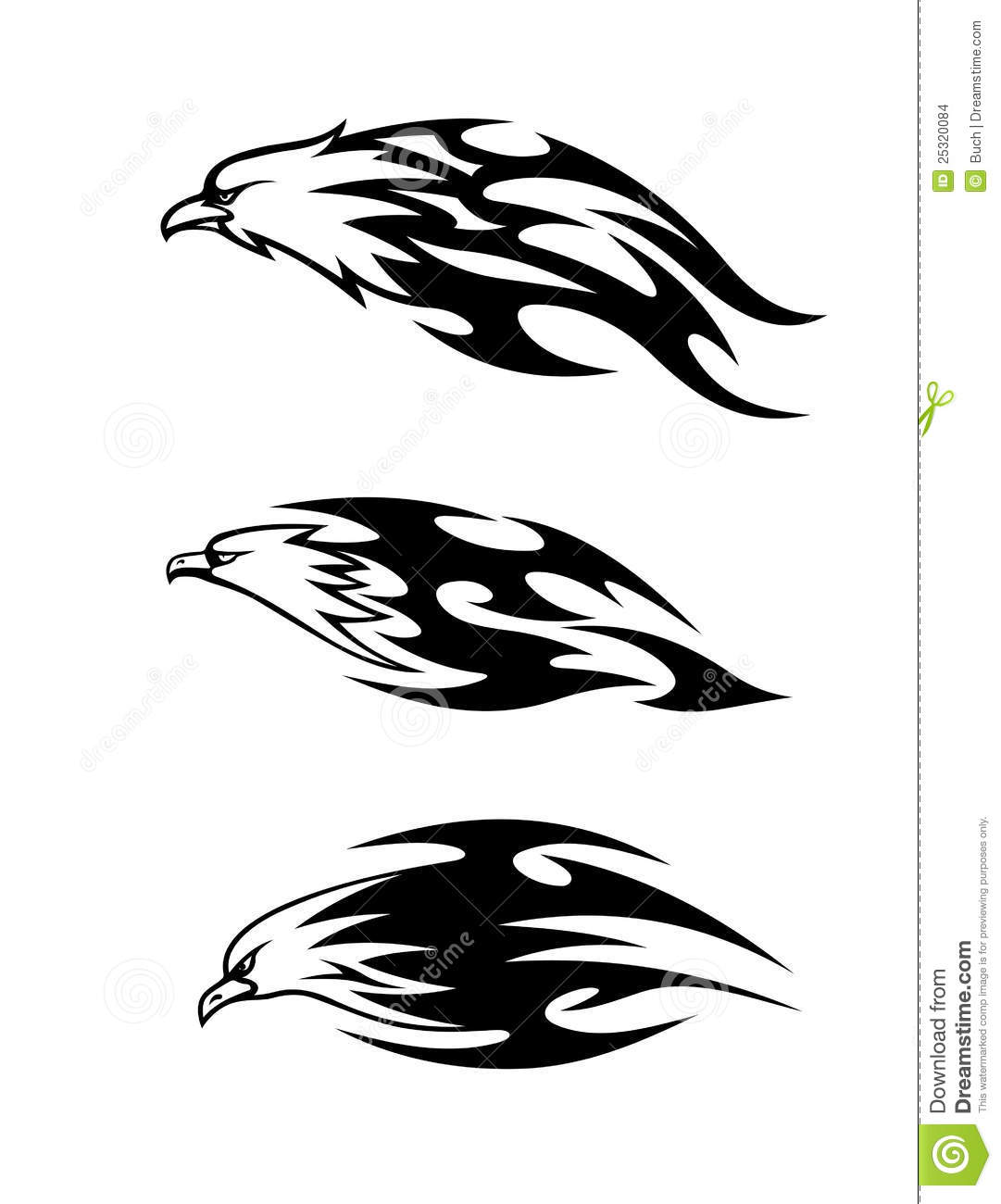 Eagle Tattoos With Flames Stock Images - Image: 25320084