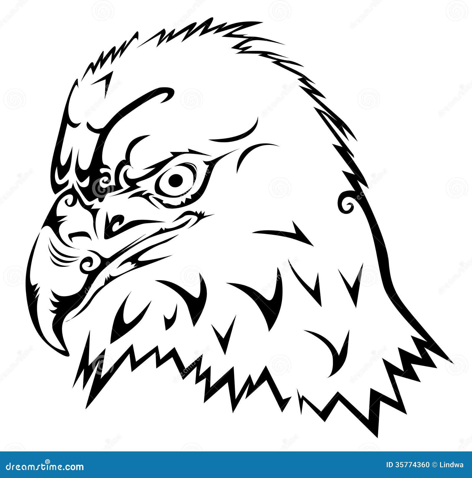 tribal tattoo eagle vector tribal tattoo background. Eagle illustration
