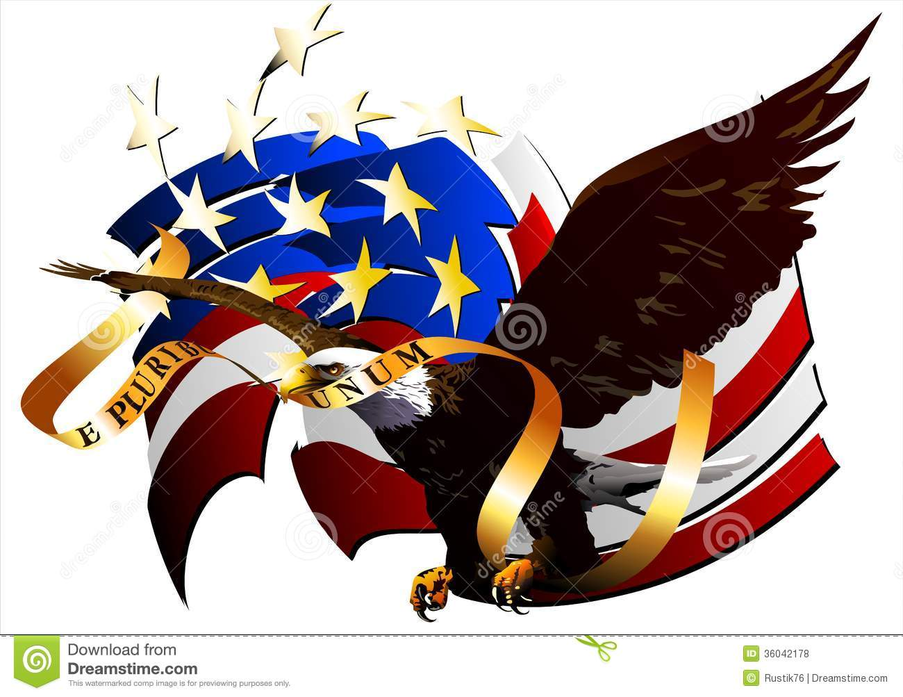 Eagle of the united states vector stock vector illustration eagle of the united states vector biocorpaavc Images