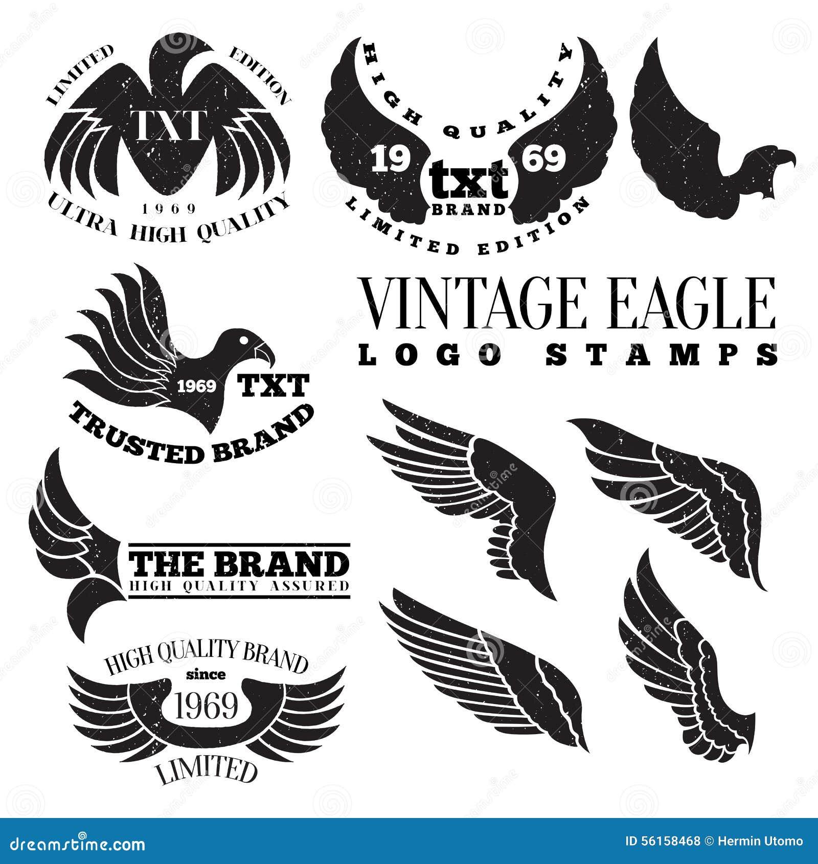Eagle Vintage Logo Stamps