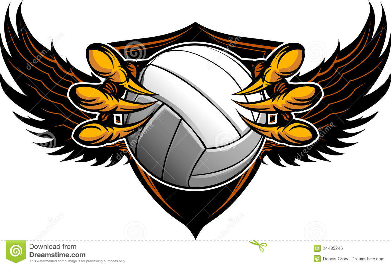eagle volleyball talons and claws stock vector image 24485246 volleyball vector art that can be outlined volleyball vector balls