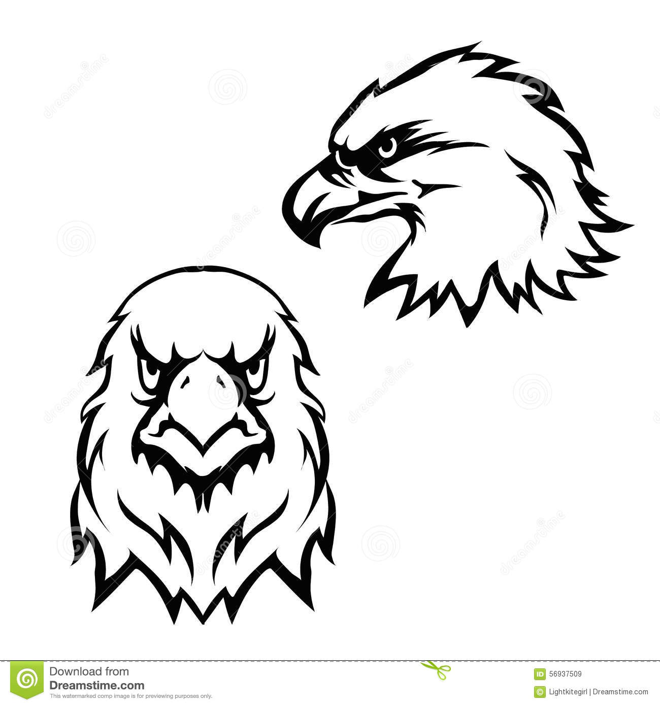 Eagle head logo black and white - photo#16