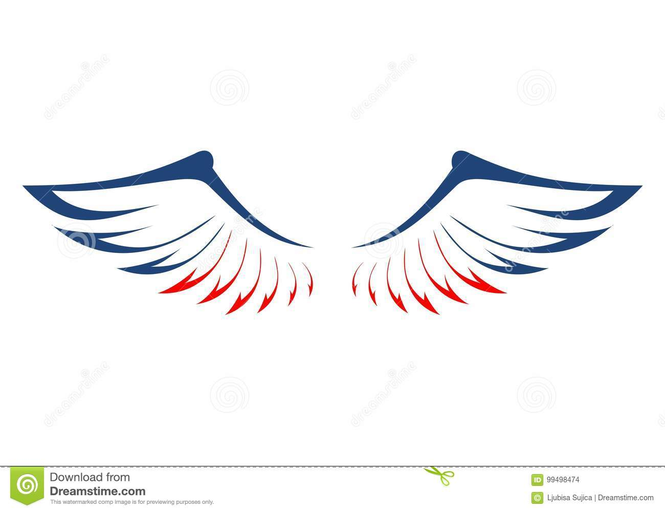 eagles wings in the colors of the american flag stock vector illustration of american america 99498474 https www dreamstime com stock illustration eagles wings colors american flag eagles wings colors american flag vector icon image99498474