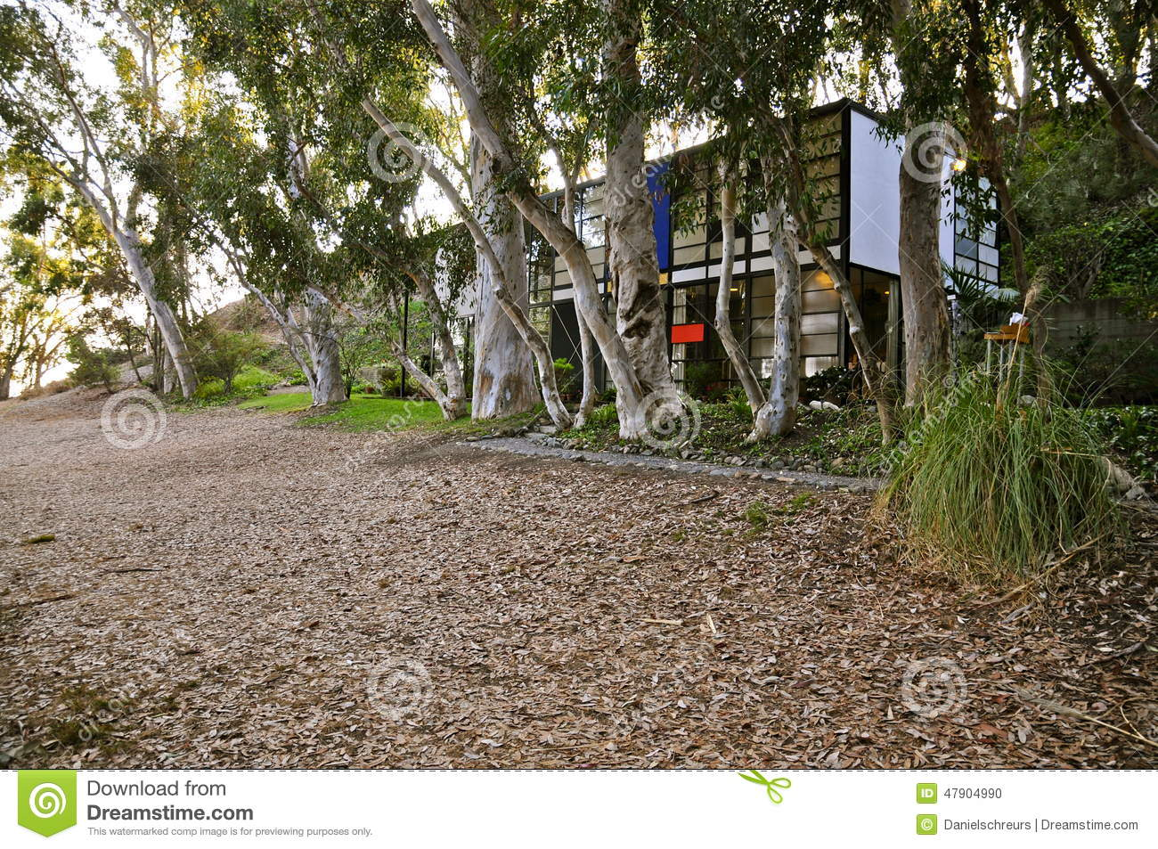 Eames house pacific palisades stock photo image of for Meadow house