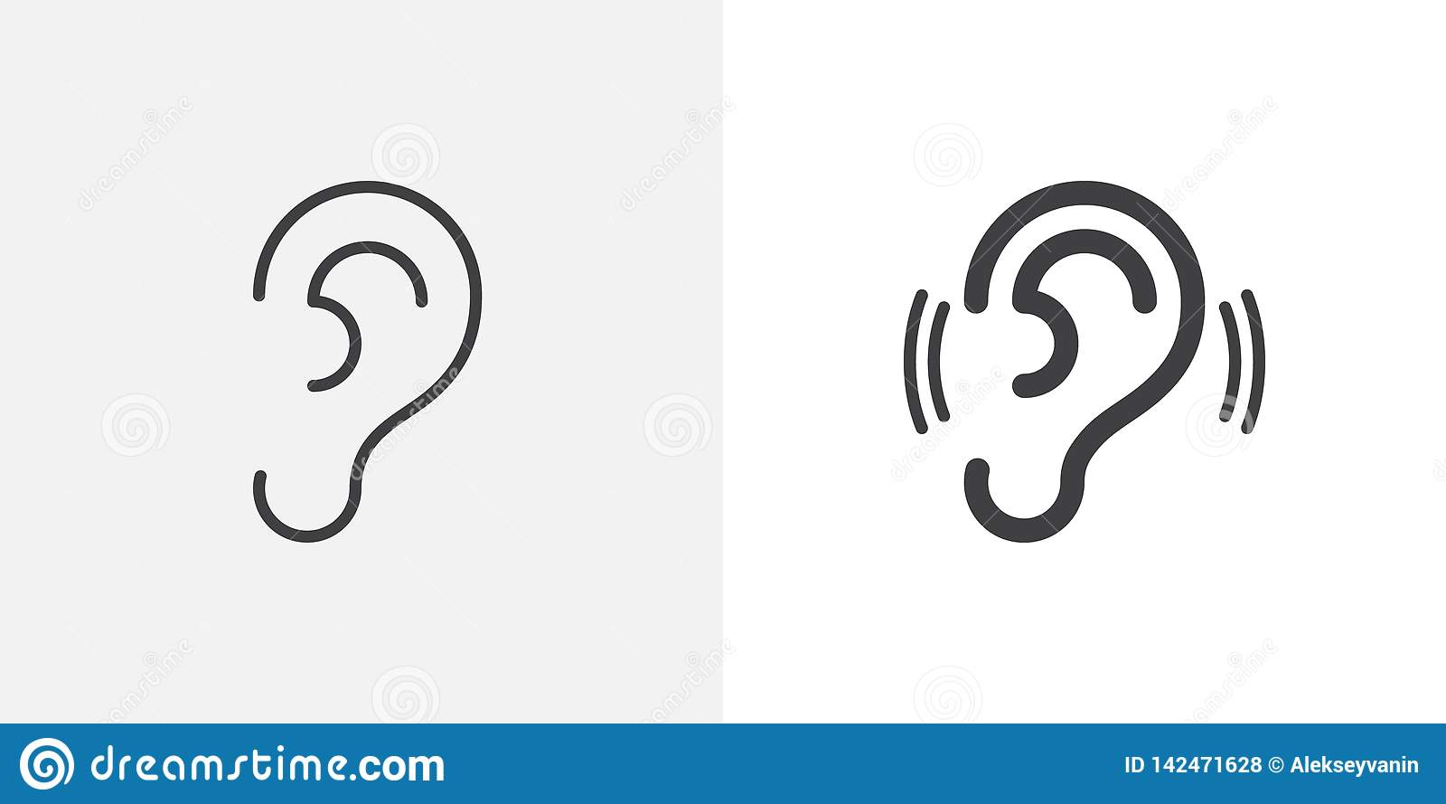 Ear, hearing icon