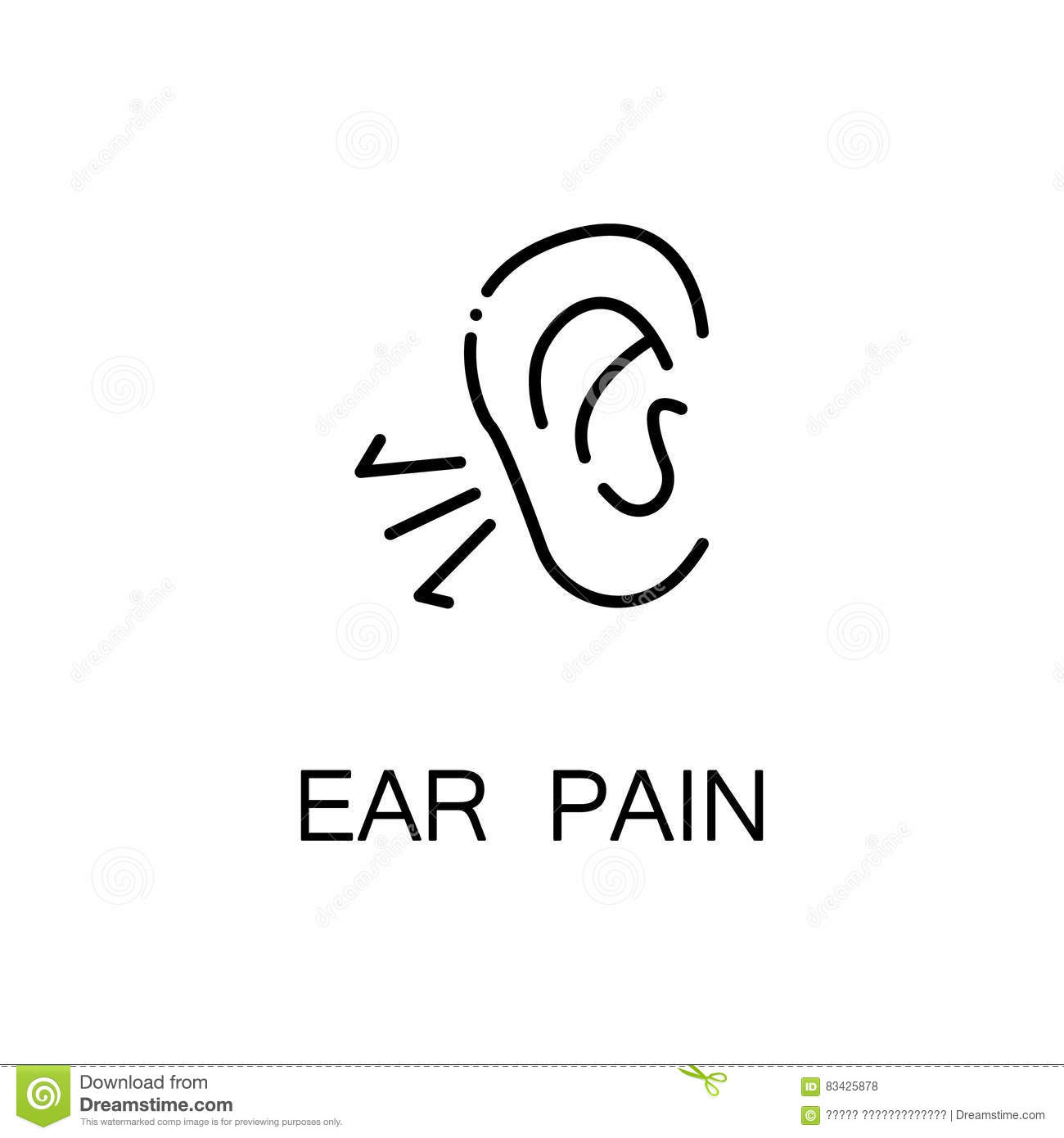 ear pain icon vector illustration