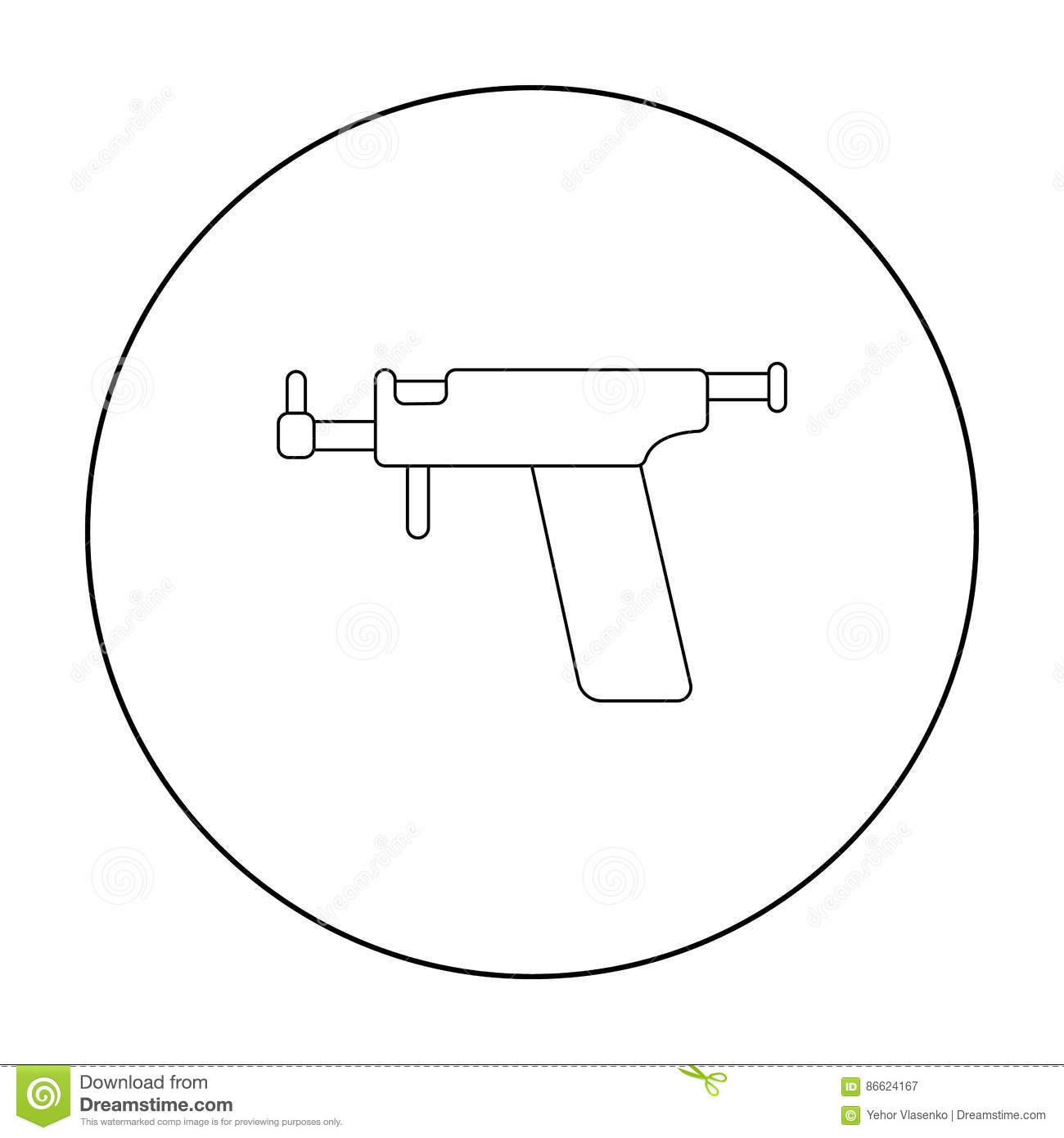 Ear Piercing Gun Icon Outline Single Tattoo Icon From The Big