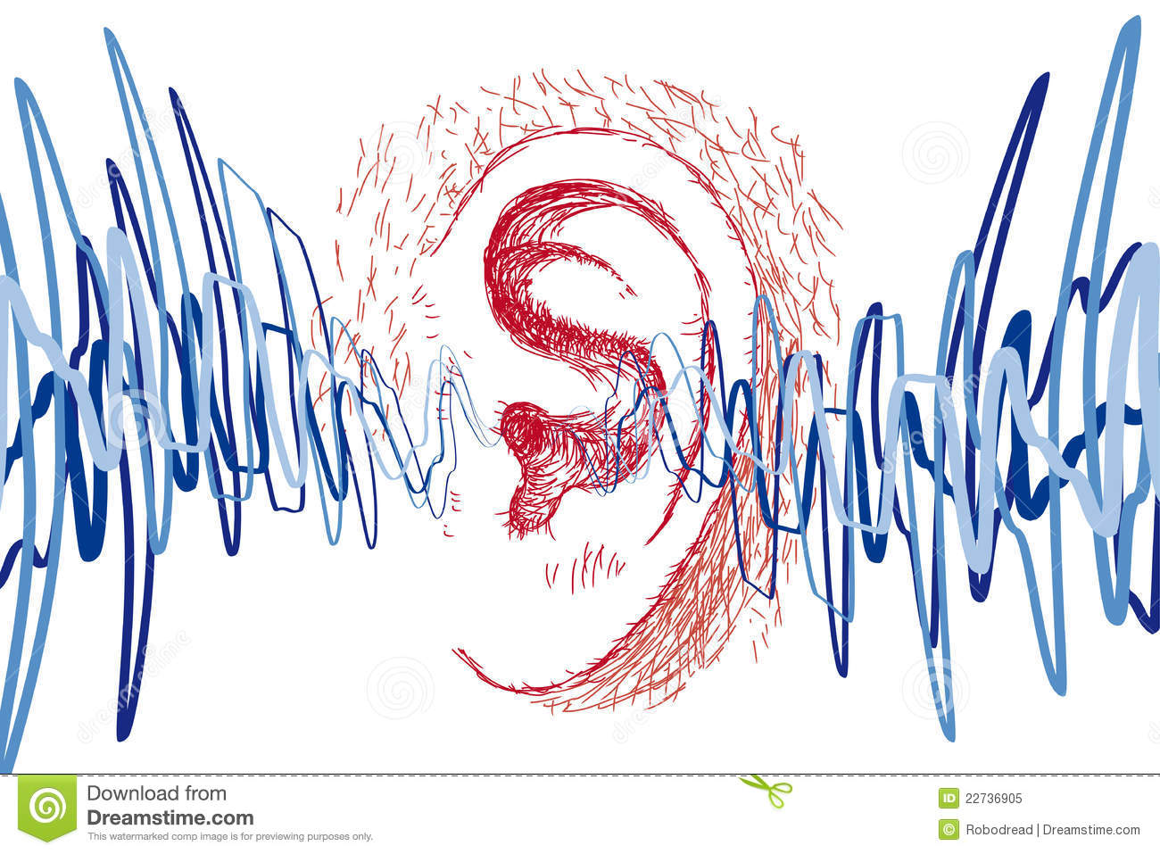 Ear And Sound Waves Royalty Free Stock Photo - Image: 22736905