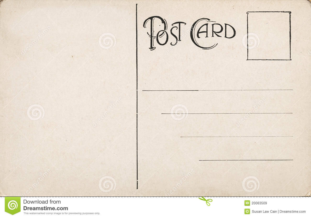 postcard template word .