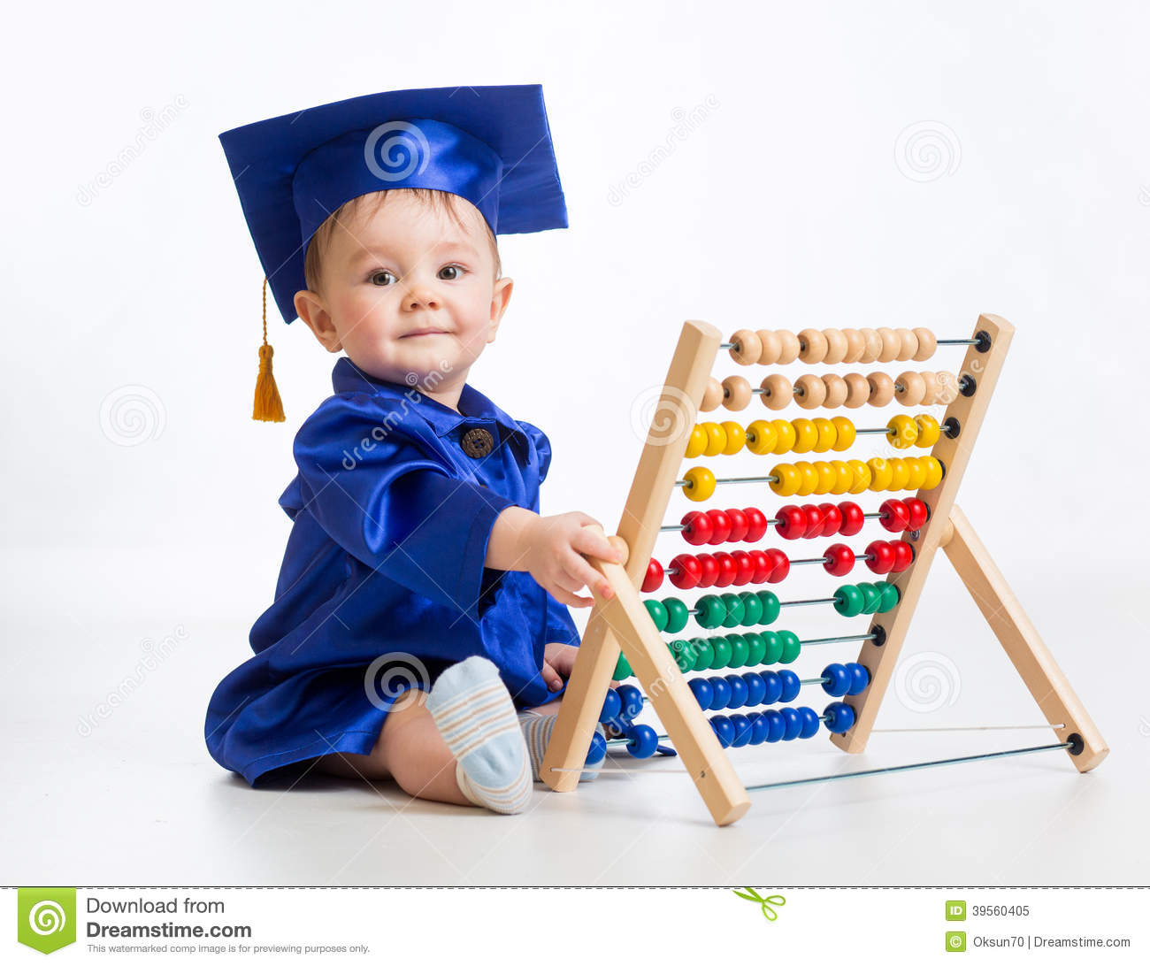 Early Learning: Early Learning Baby Stock Image. Image Of Baby, Education