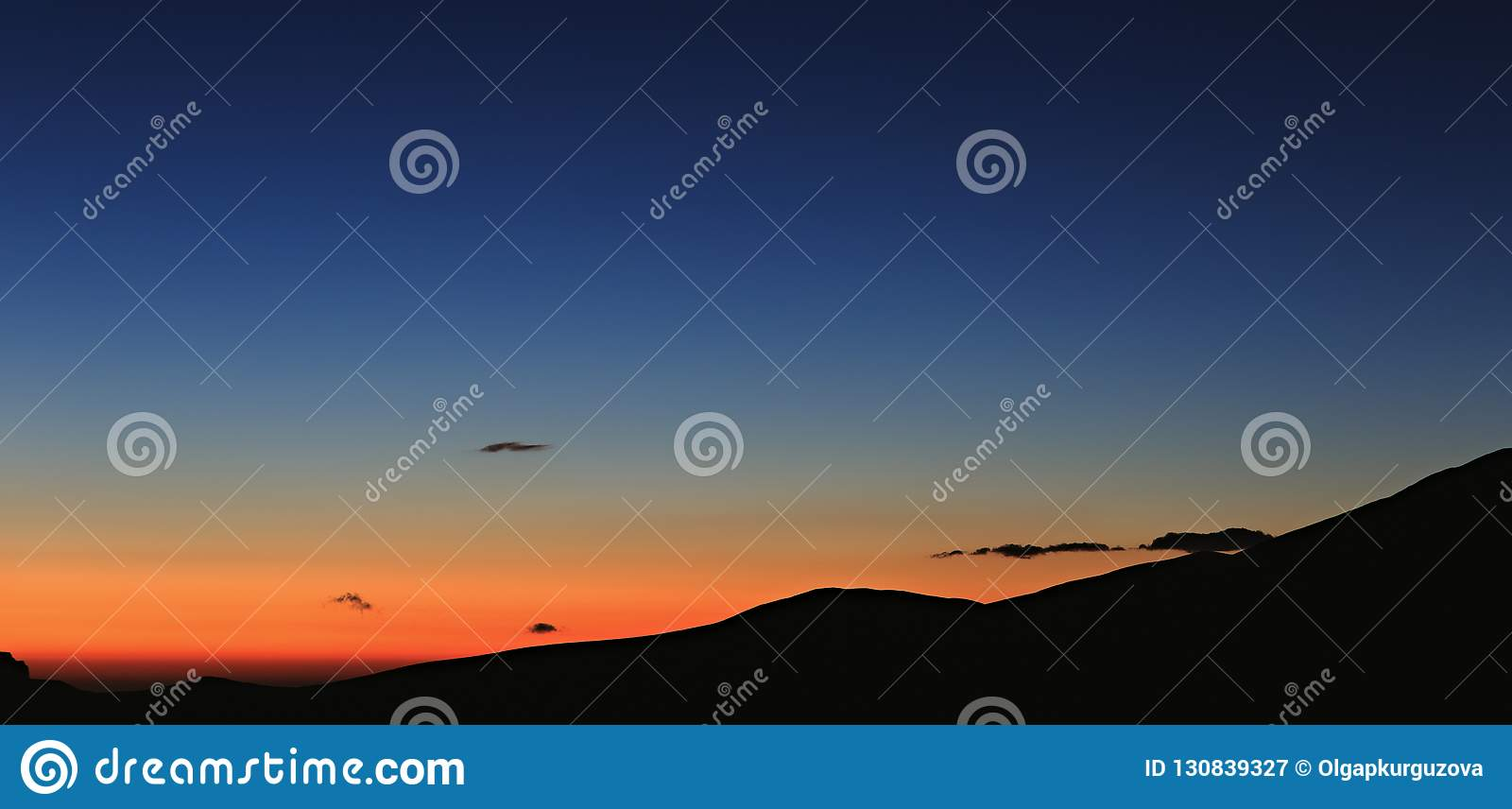 Early morning. Dawn over the mountains of the North Caucasus
