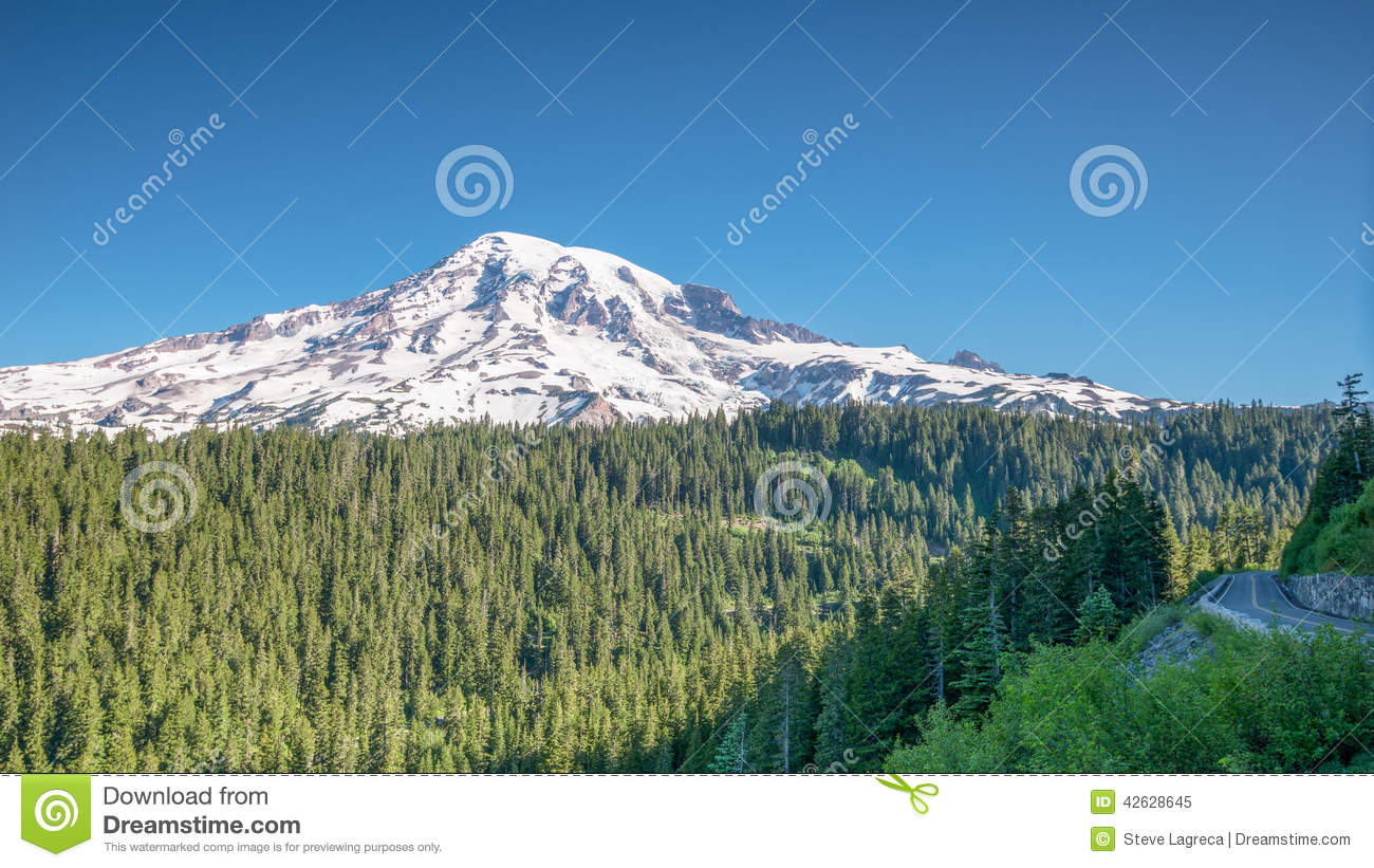 Early Morning at Inspiration Point, Mount Rainier,