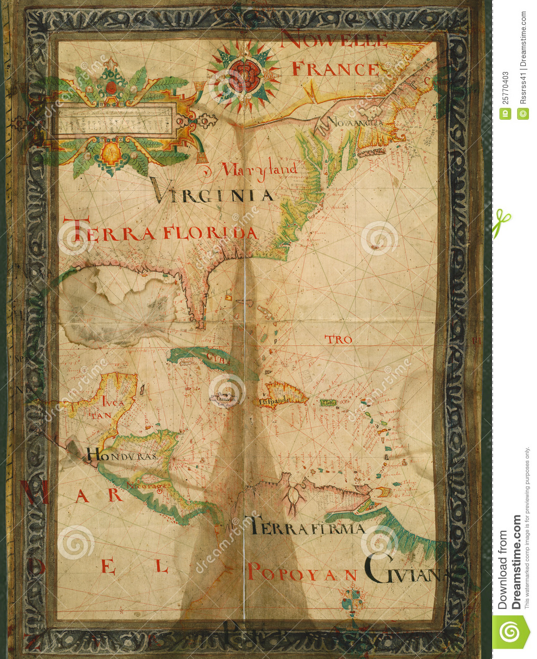 Early Old Paper Map Of Usa Stock Image Image Of Atlantic 25770403
