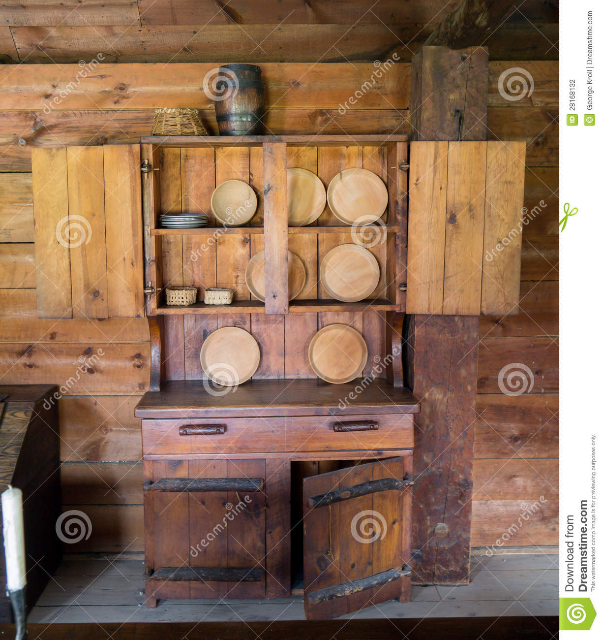 Early Settlers Kitchen Cabinet Stock Photography Image