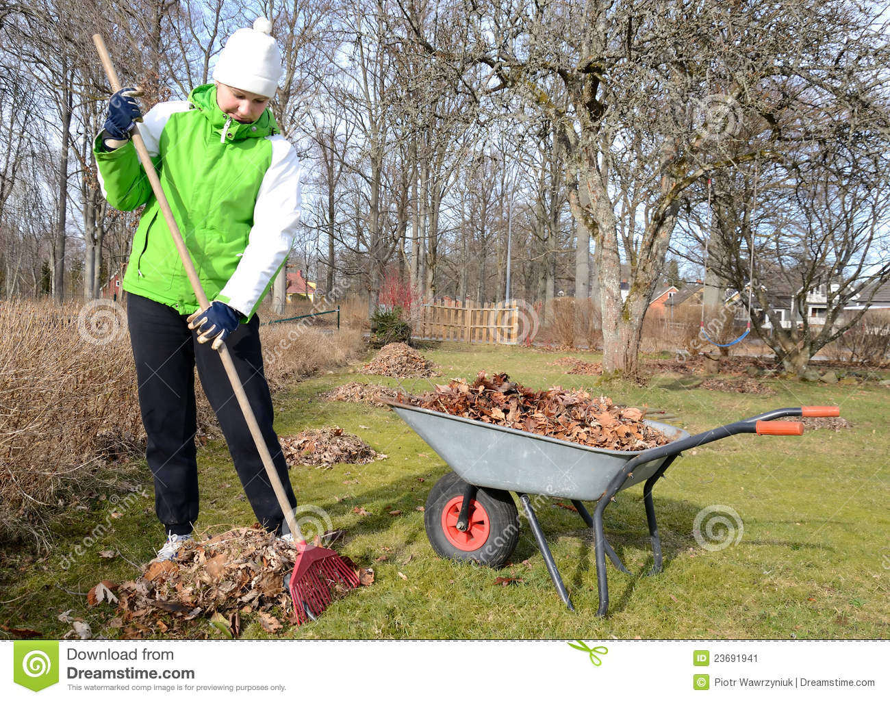 Early Spring Garden Cleaning Stock Image Image 23691941
