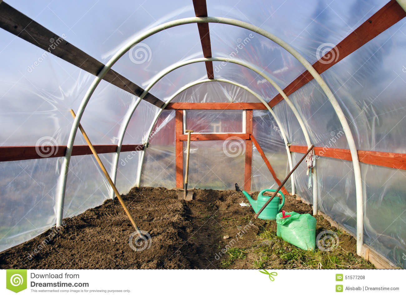 In the greenhouse the earth is spring stone and what to do 48