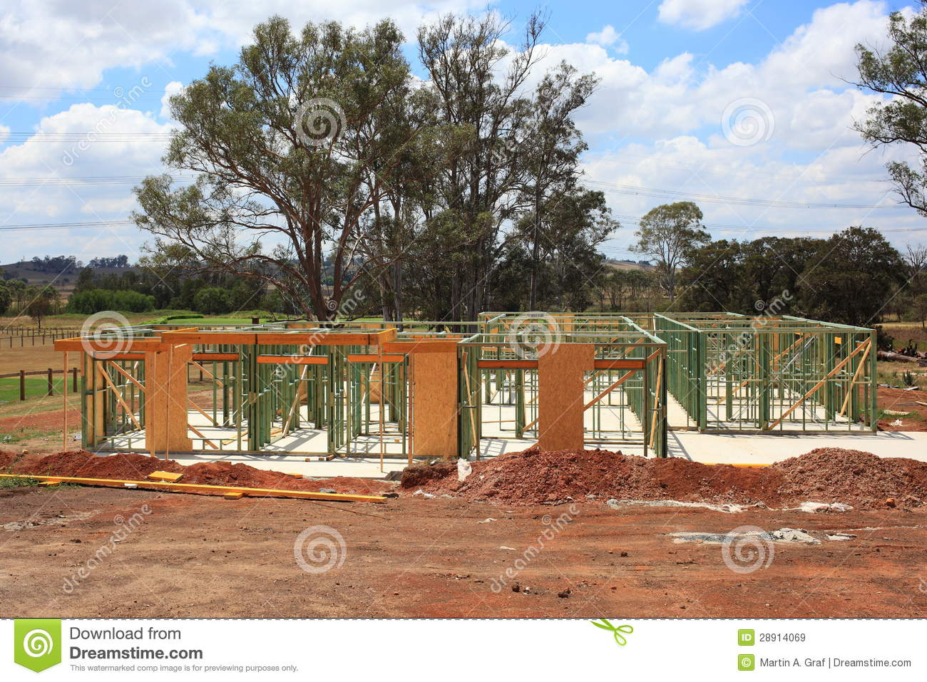 house construction early stages royalty free stock images