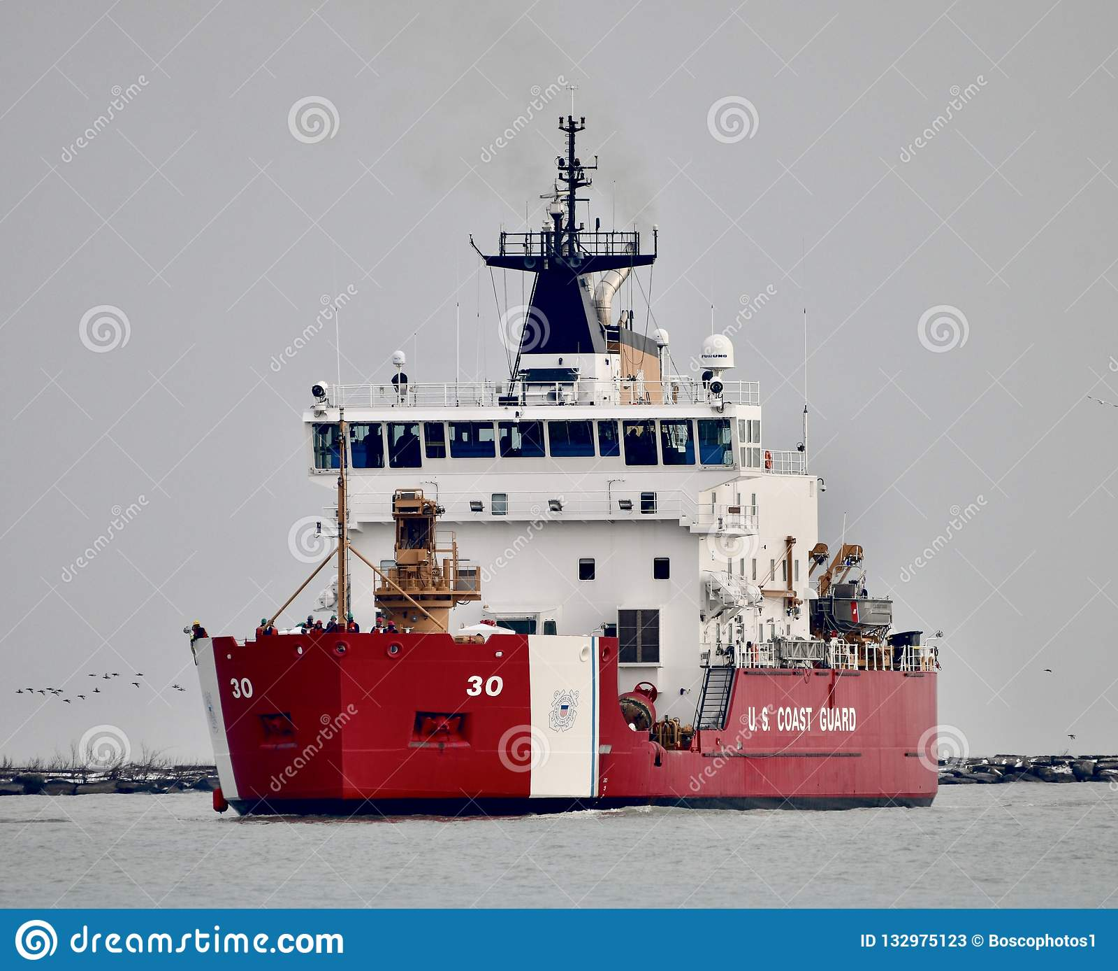 The U S Coast Guard Cutter Mackinaw Editorial Stock Photo Image