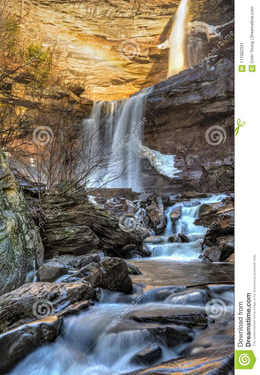 Early Winter Than At Kaaterskill Falls Stock Image