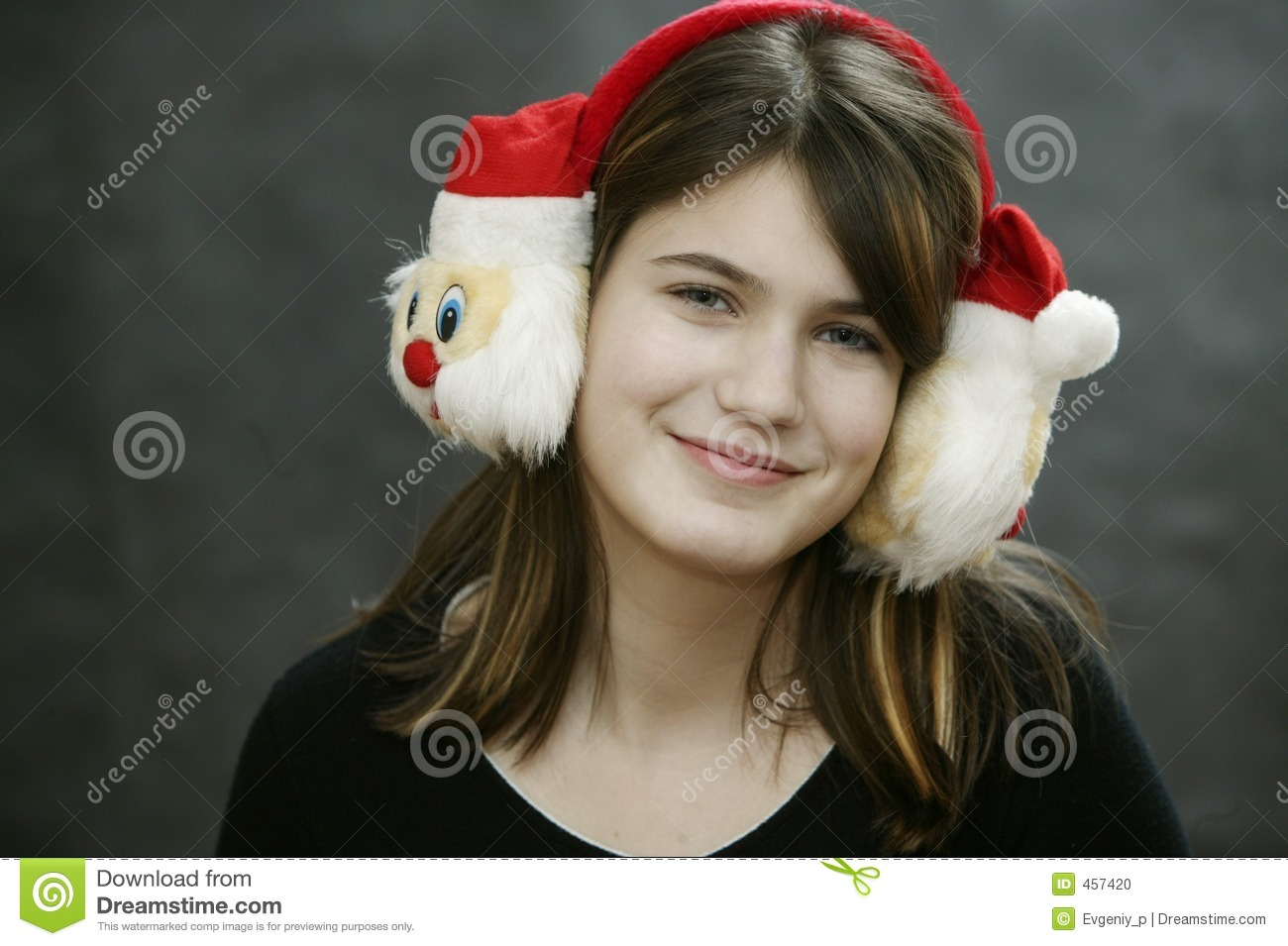 Download Earmuff with Santa Claus stock photo. Image of magnetic - 457420