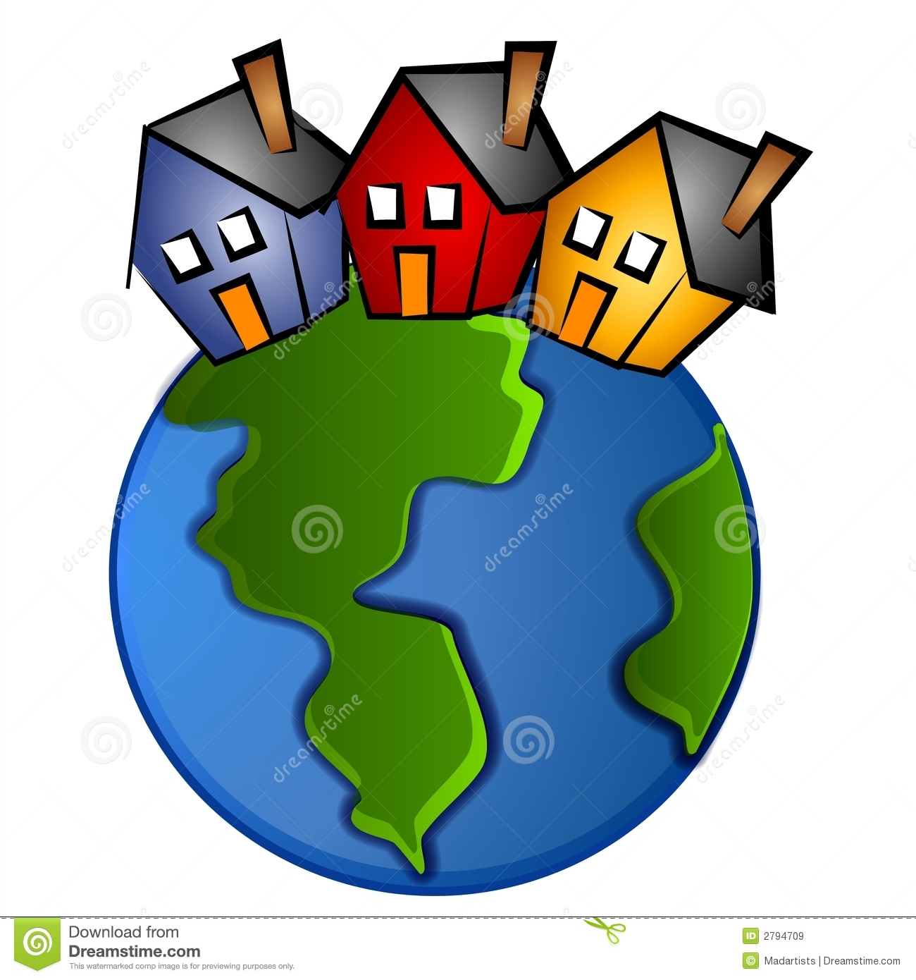 earth with 3 houses clip art stock illustration illustration of rh dreamstime com free stock clip art rx free stock clip art rx