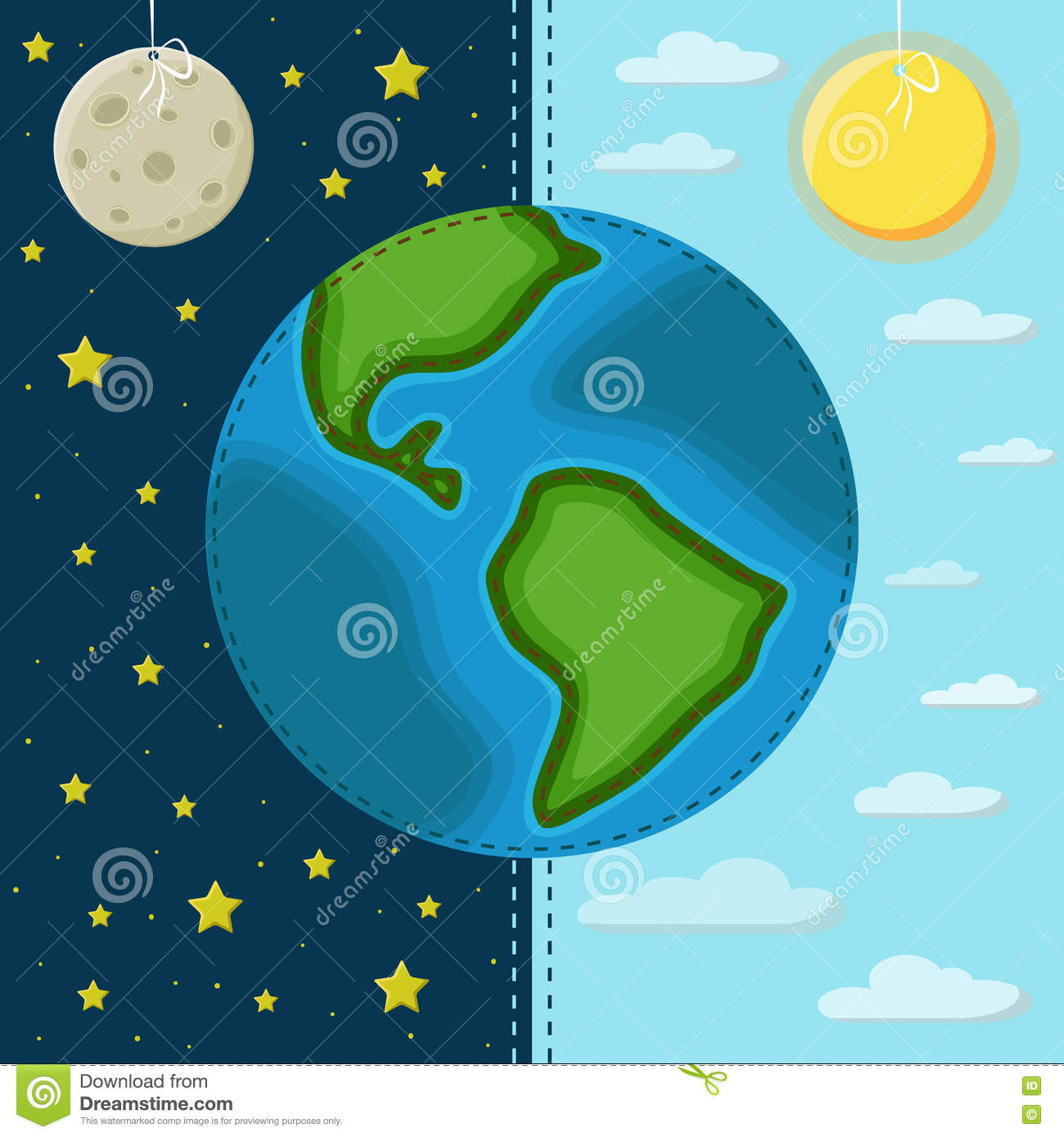 Earth on a background of the day and night stock vector earth on a background of the day and night ccuart Gallery
