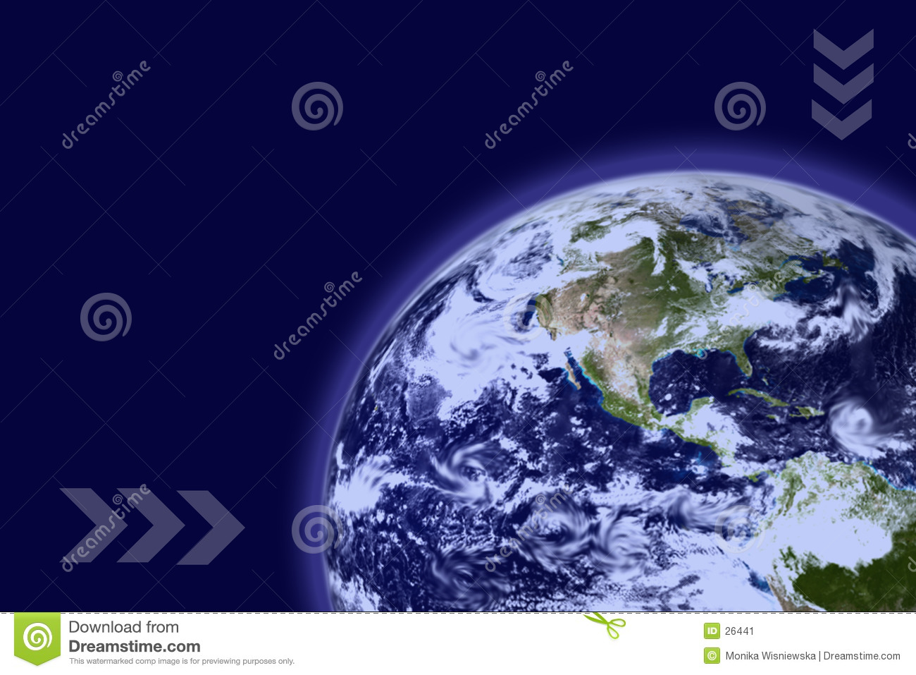 Earth With Blue Atmosphere