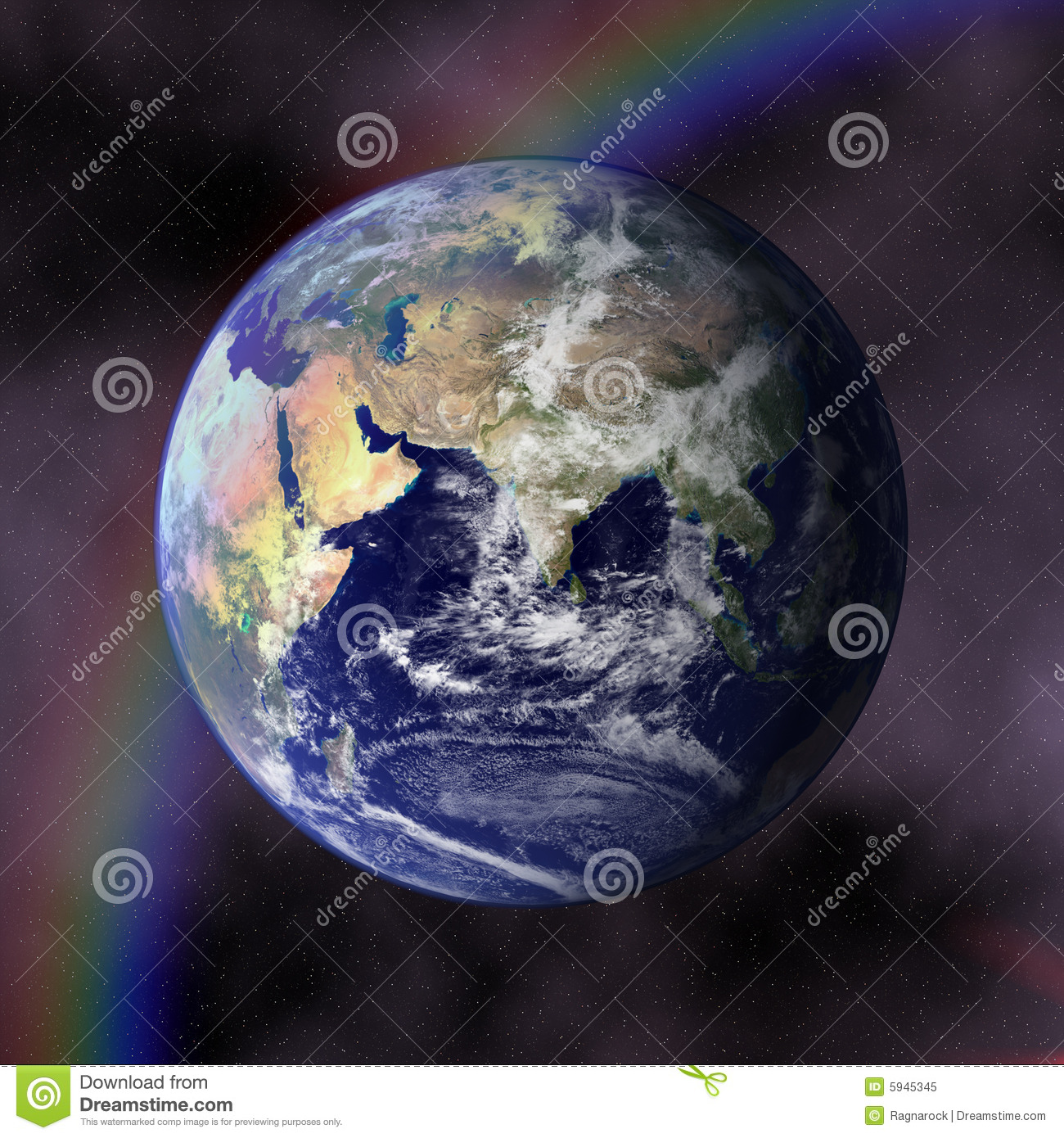 Earth Blue Planet In Space Royalty Free Stock Photo - Image: 5945345