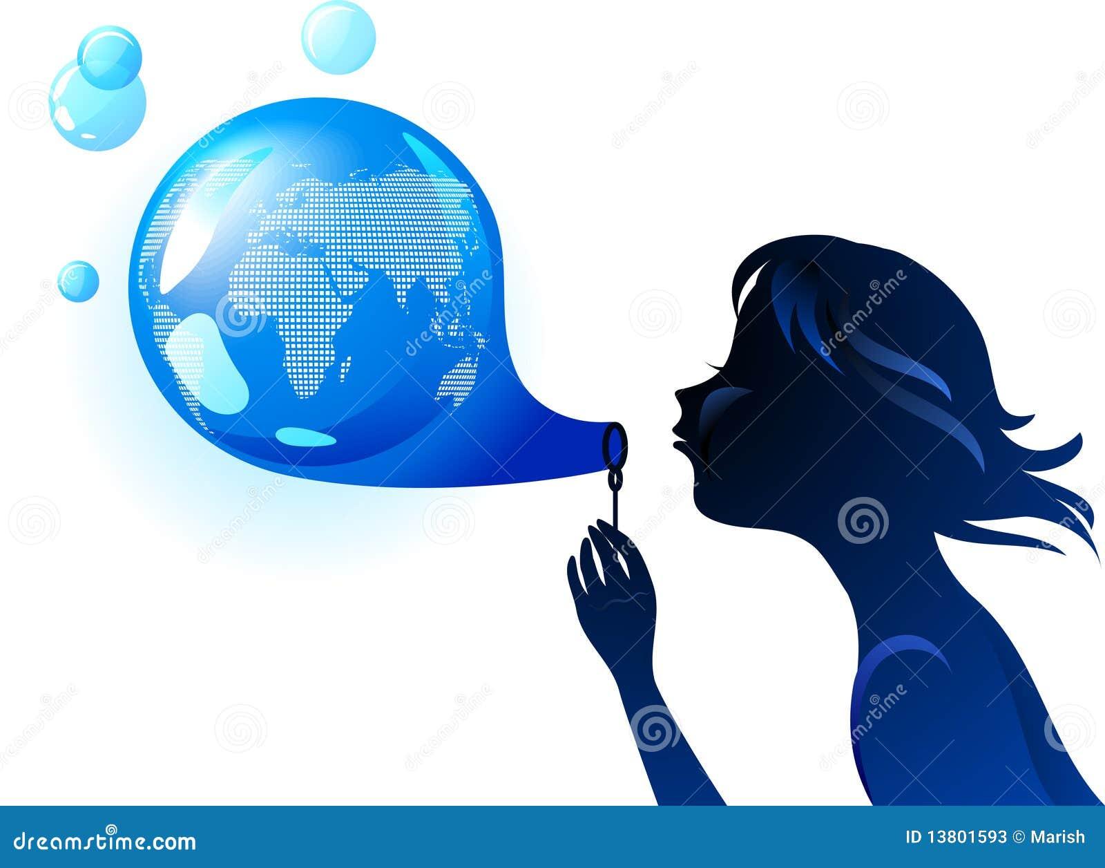 Earth bubble eco concept