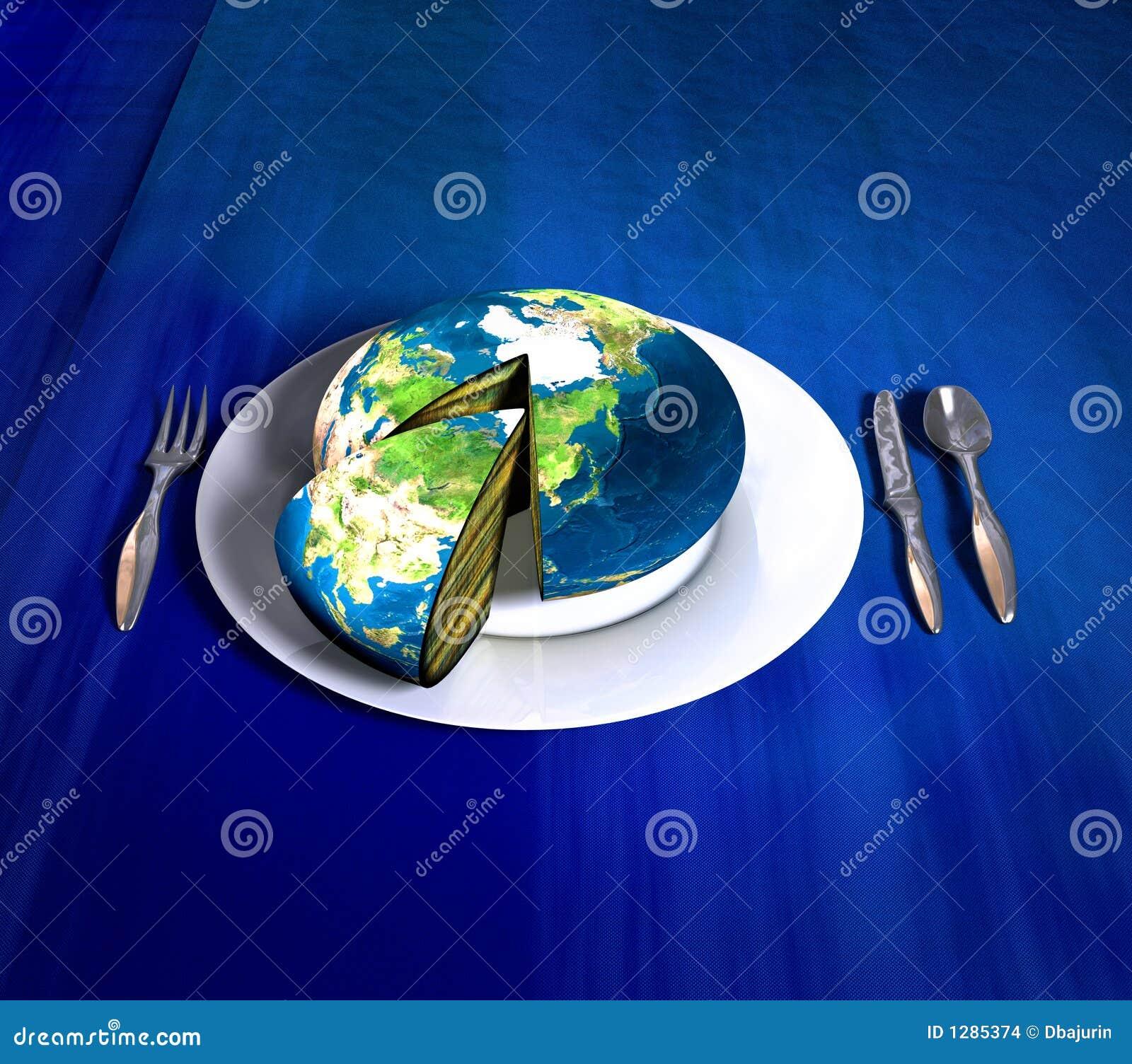 Earth Cake Asia Stock Illustration Illustration Of