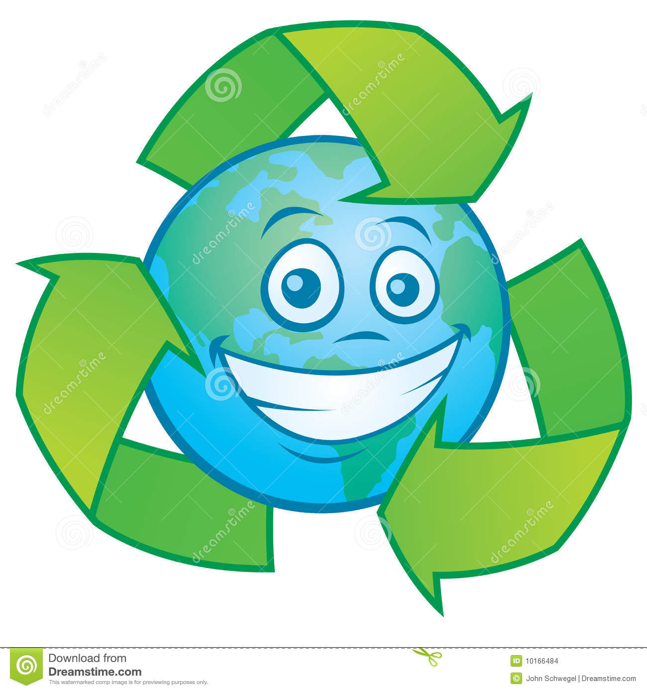 Earth cartoon with recycle symbol stock vector illustration of earth cartoon with recycle symbol biocorpaavc Gallery