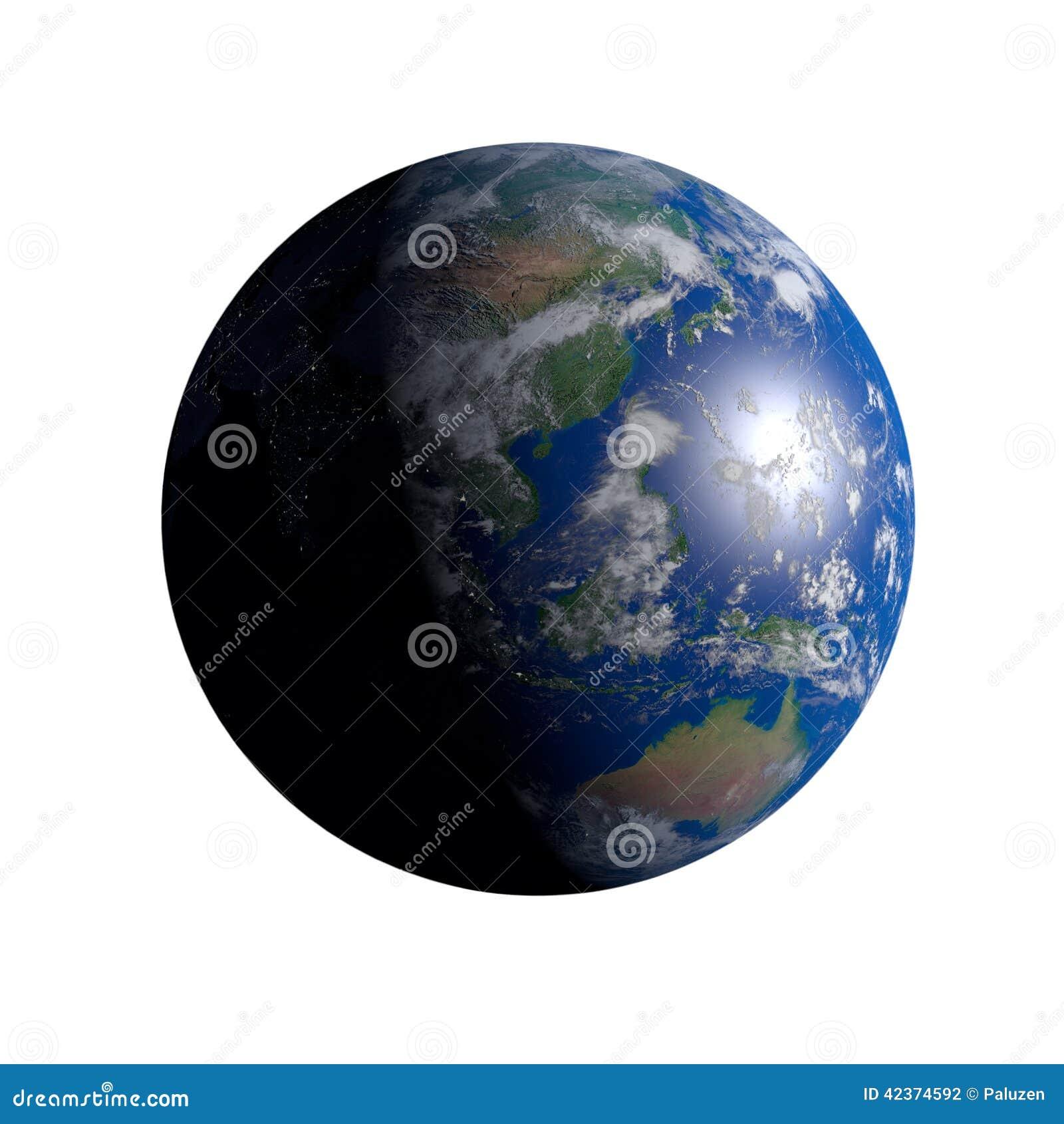 Earth China White Background Stock Illustration - Image: 42374592