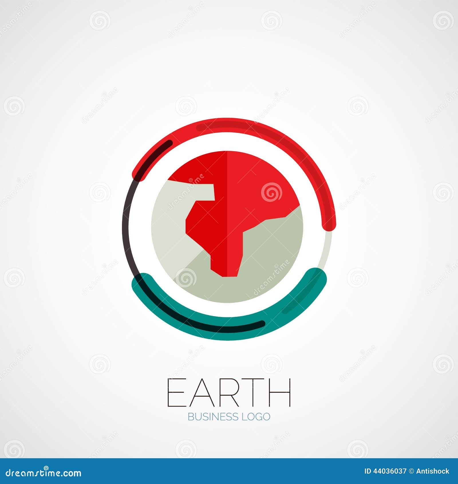 Earth company logo design stock vector image of modern 44036037 - Custom signs for home decor concept ...