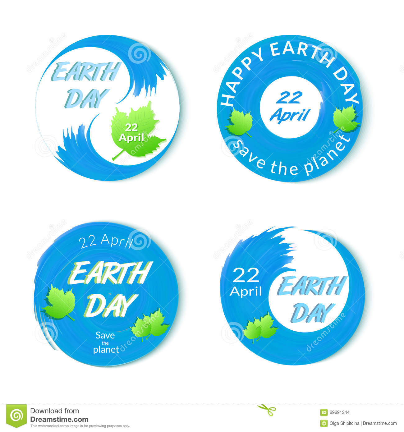 Earth day badges set isolated stock vector illustration 69691344 earth day badges set isolated buycottarizona
