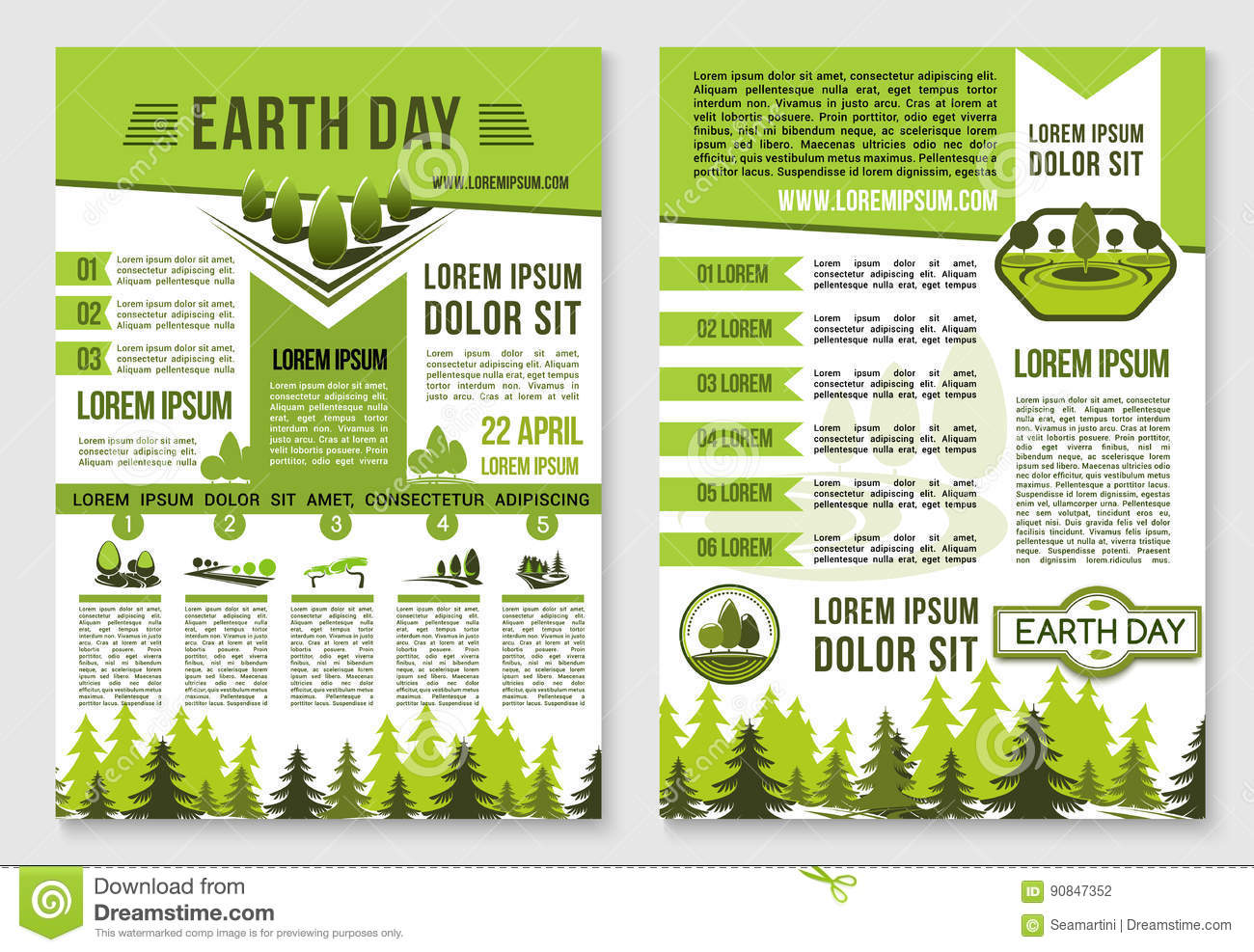 earth day brochure template for ecology design stock vector