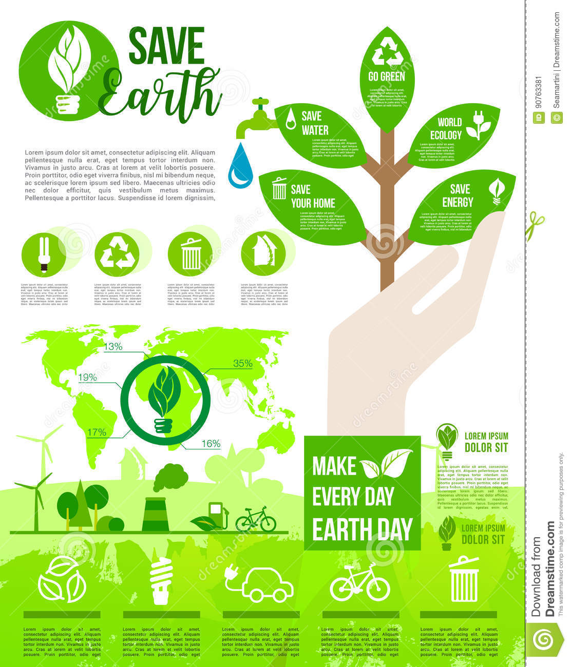 Poster design on save earth - Day Design Earth