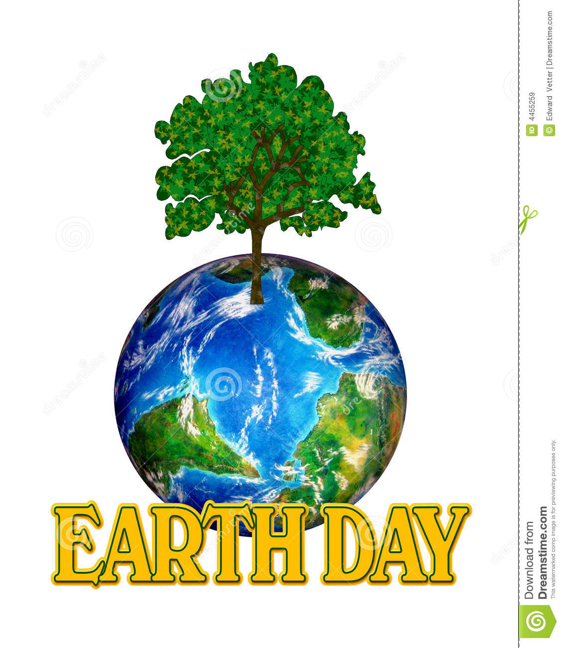 Earth Day Graphic Royalty Free Stock Images - Image: 4455259