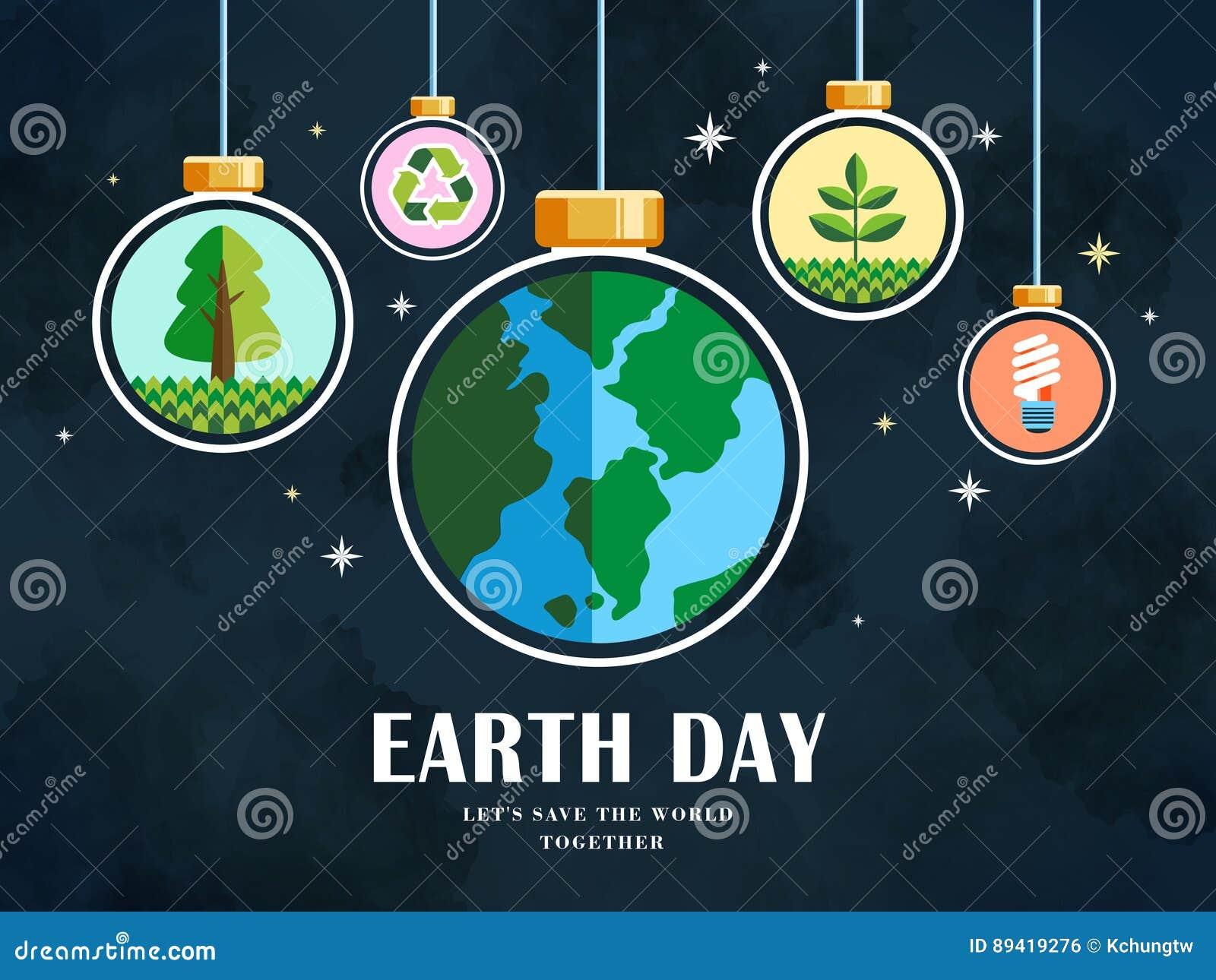Earth Day Illustration Stock Vector Illustration Of Green 89419276