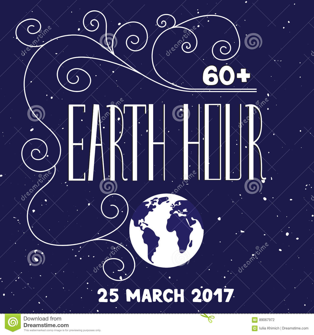 Earth day lettering stock vector image