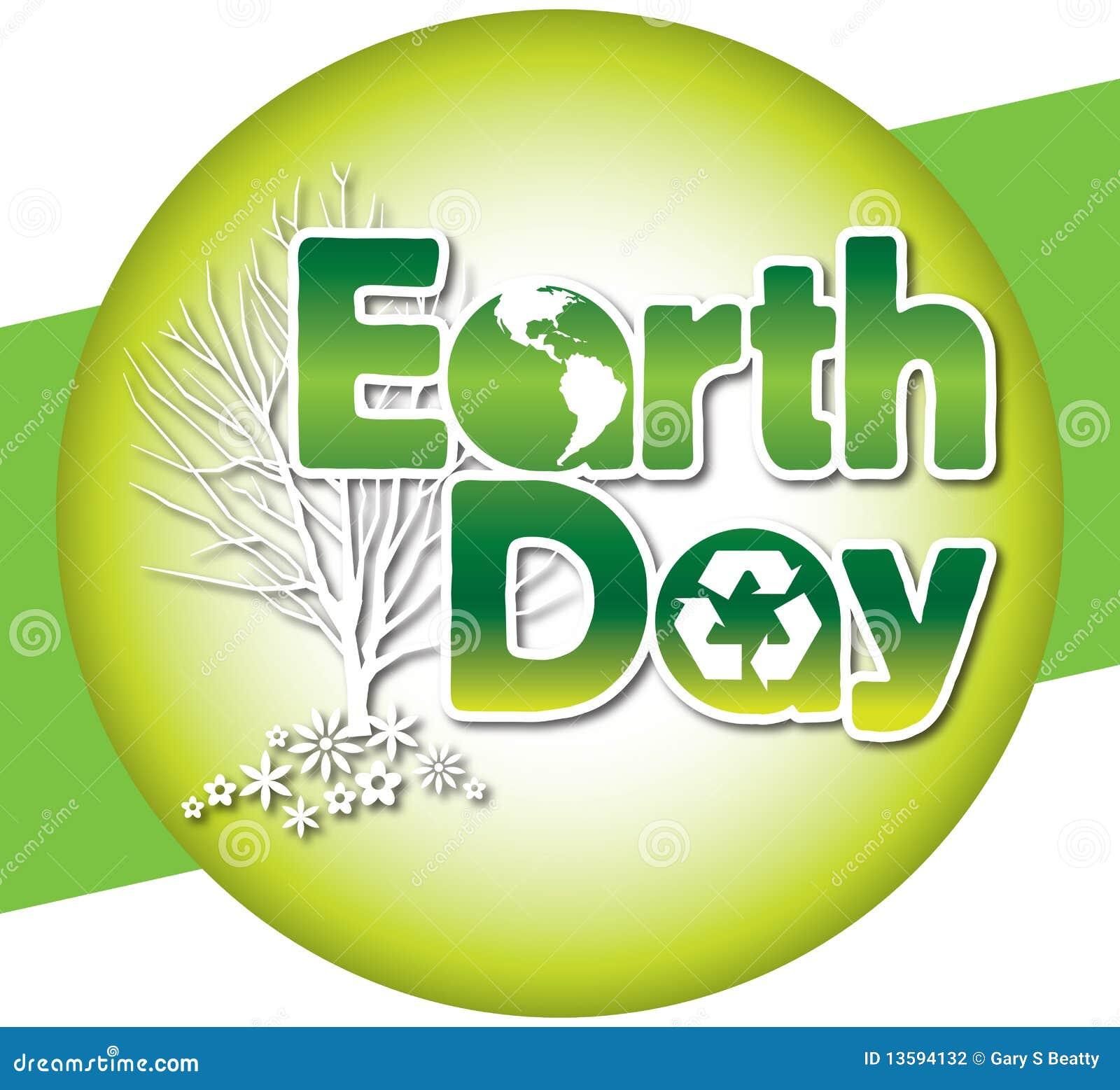 Earth Day Logo Type Illustration 13594132 Megapixl