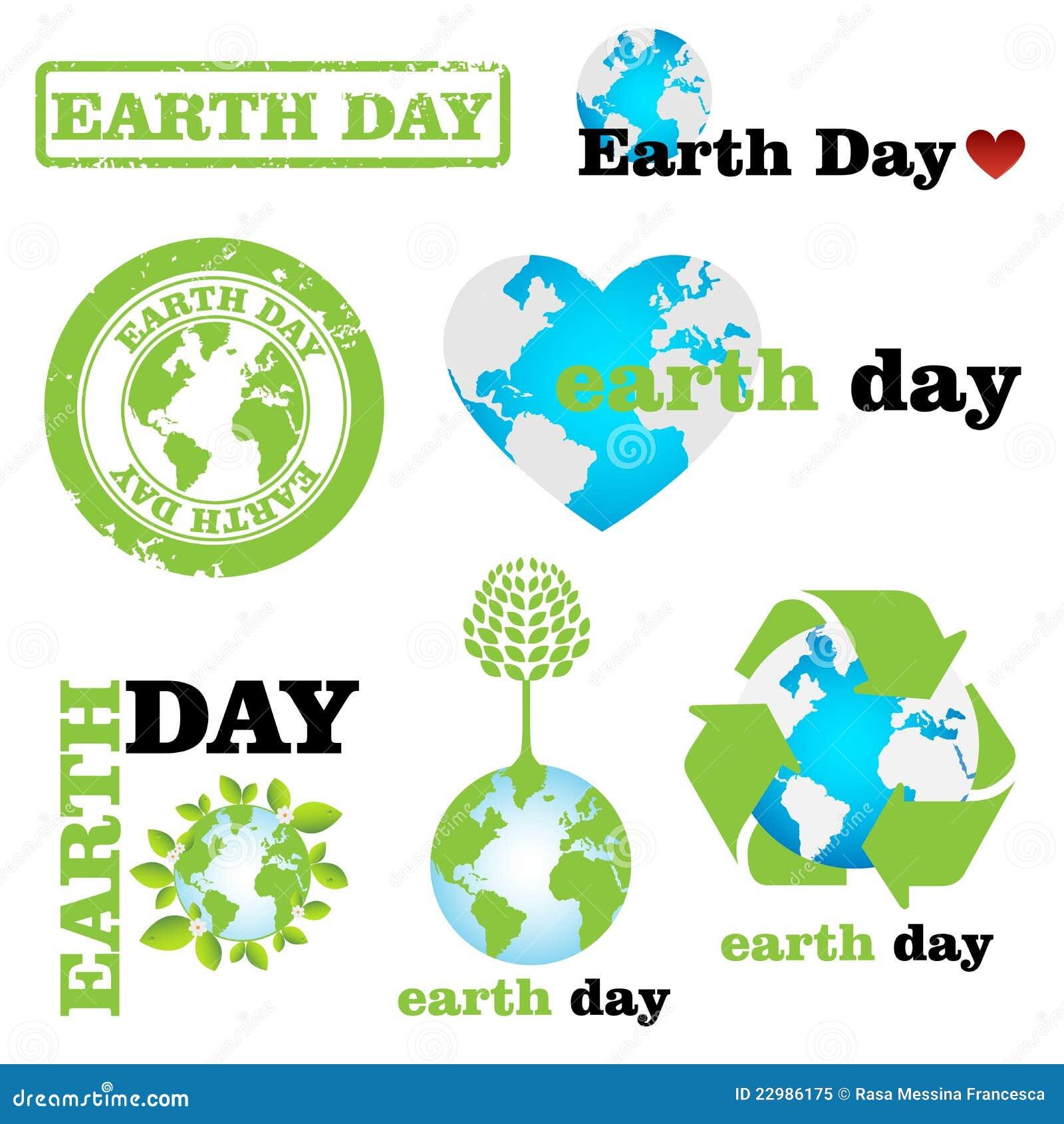 Earth day logos